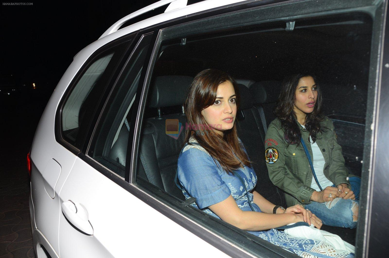Dia Mirza, Sophie Chaudhary at Dear Zindagi screening on 23rd Nov 2016