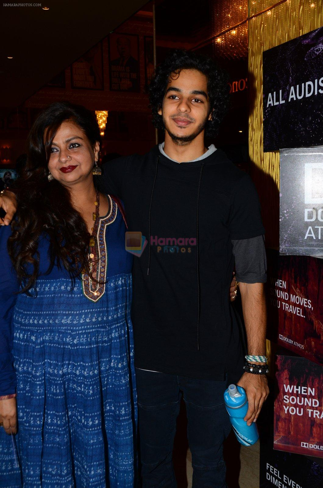 Neelima Azeem, Ishaan Khattar at La La land screening in Mumbai on 23rd Nov 2016