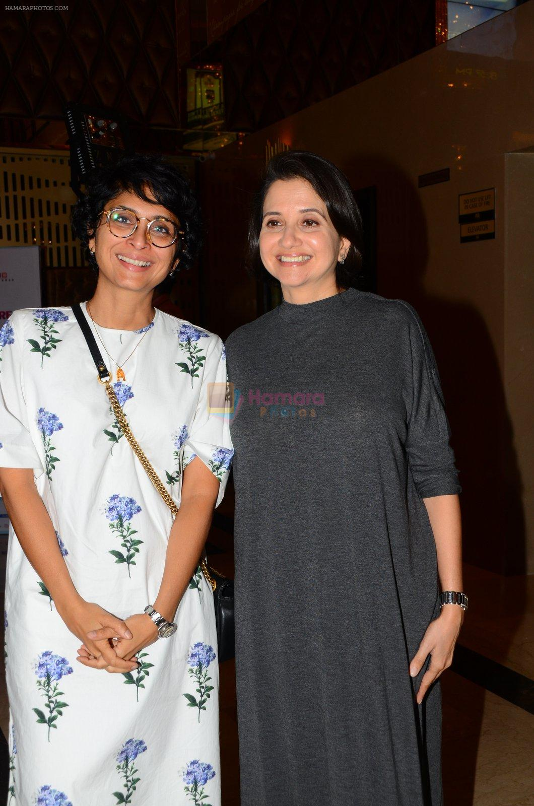 Kiran Rao, Anupama Chopra at La La land screening in Mumbai on 23rd Nov 2016