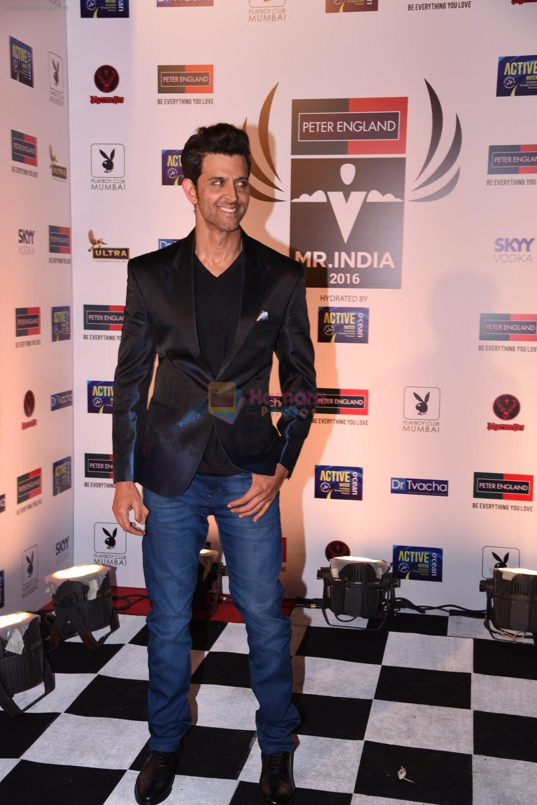 Hrithik Roshan at Peter England Mr India on 24th Nov 2016