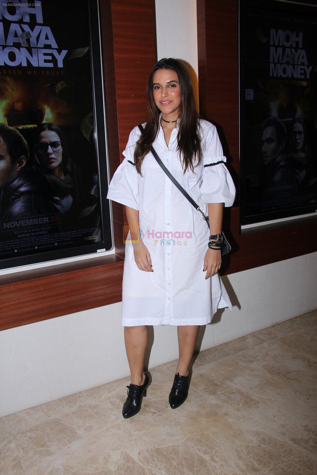 Neha Dhupia at Moh Maya Money screening on 24th Nov 2016