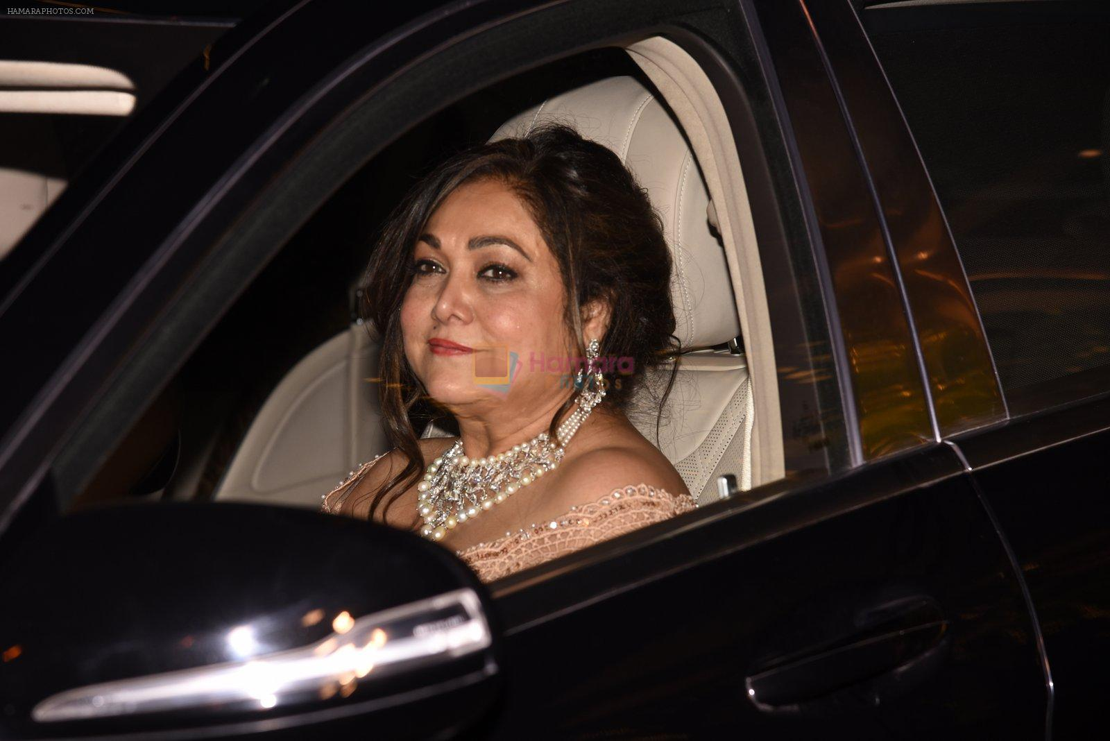 Tina Munim at the Ambani's wedding party of their niece, Isheta Salgaoncar on 24th Nov 2016