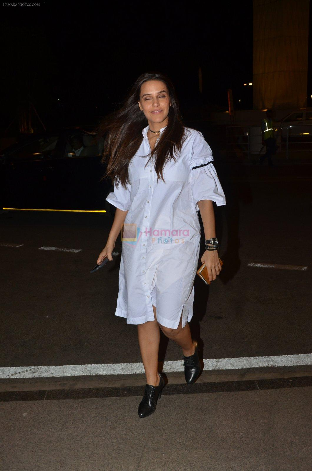 Neha Dhupia snapped at airport on 24th Nov 2016