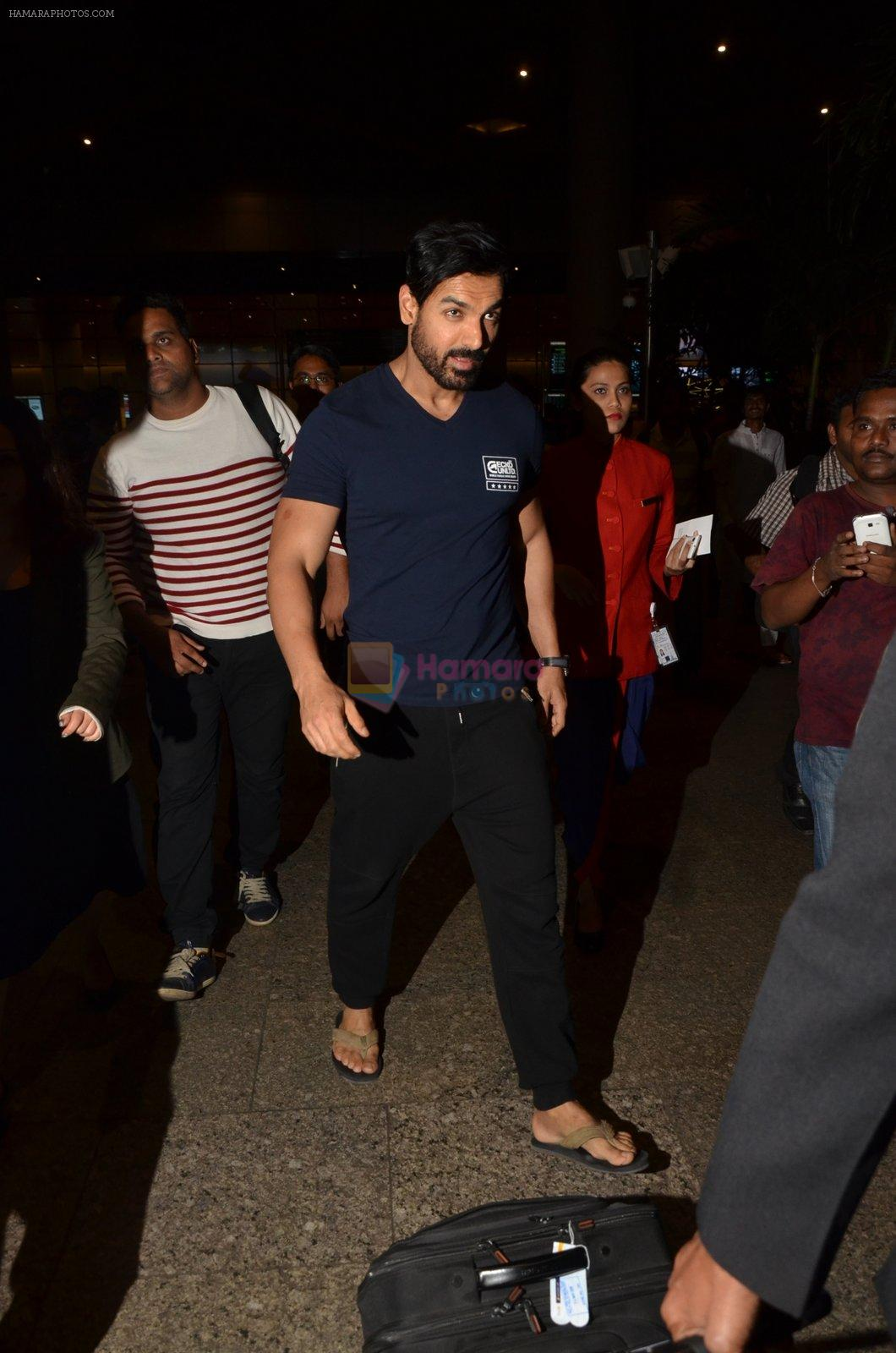 John Abraham snapped at airport on 24th Nov 2016
