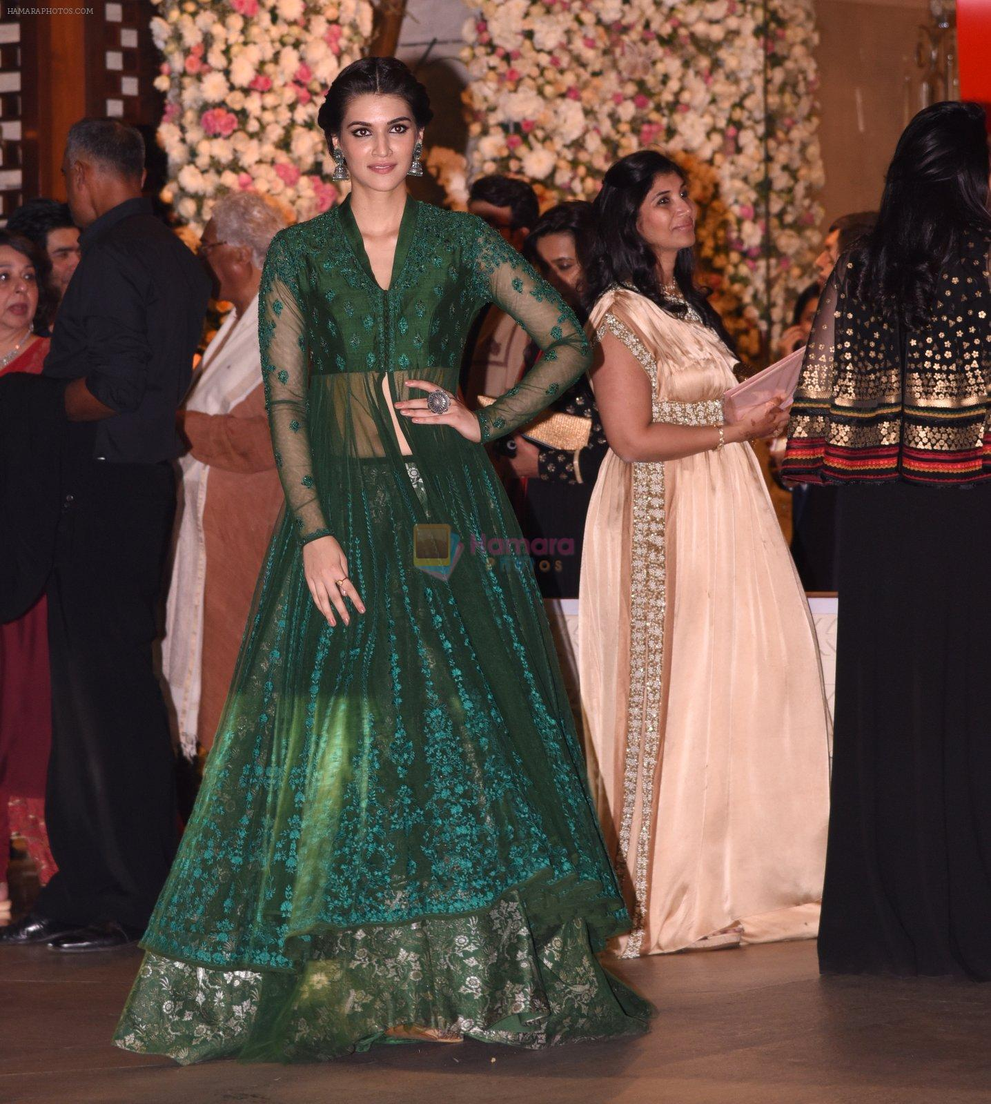Kriti Sanon at the Ambani's wedding party of their niece, Isheta Salgaoncar on 24th Nov 2016