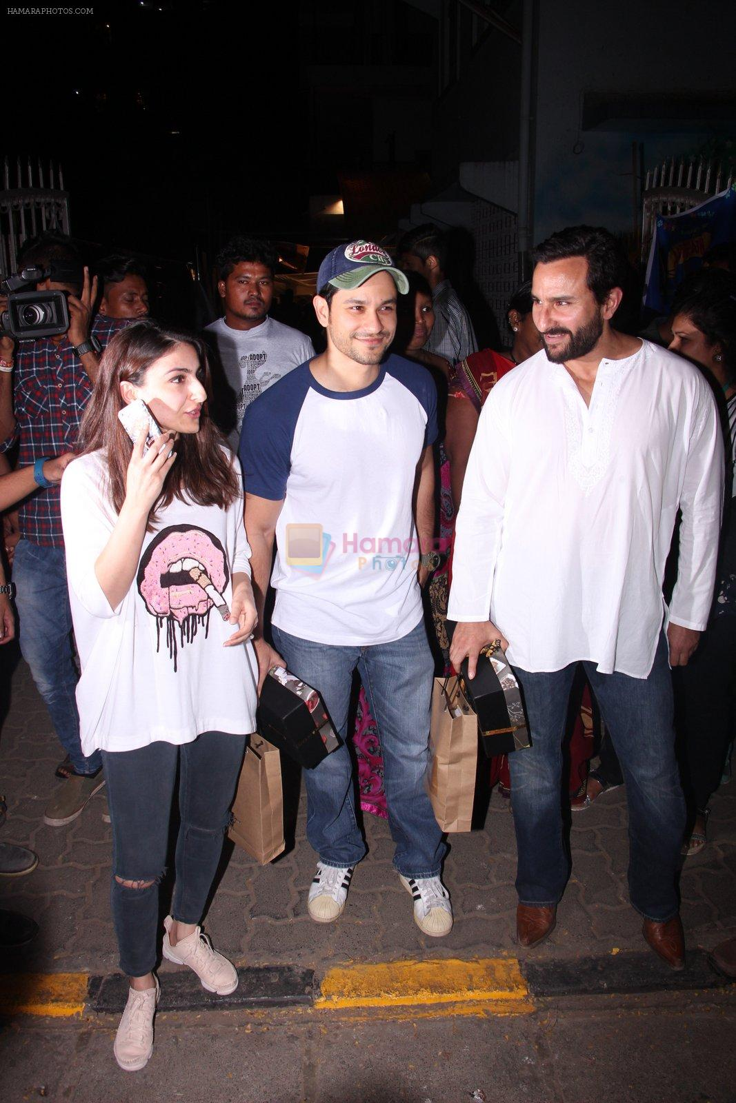 Soha Ali Khan, Kunal Khemu, Saif Ali Khan at Pet adoptation on 26th Nov 2016
