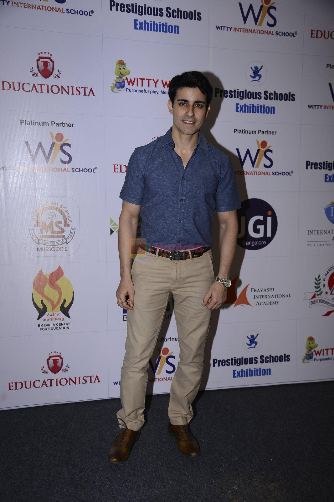 Gautam Rode at Prestegious school exhibition on 26th Nov 2016