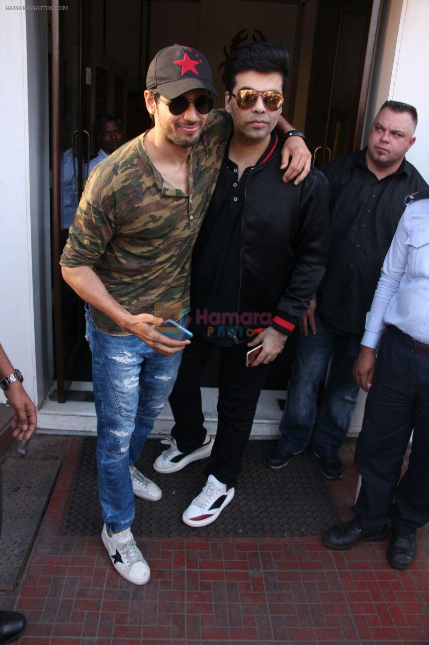 Sidharth Malhotra, Karan Johar on a lunch date on 27th Nov 2016