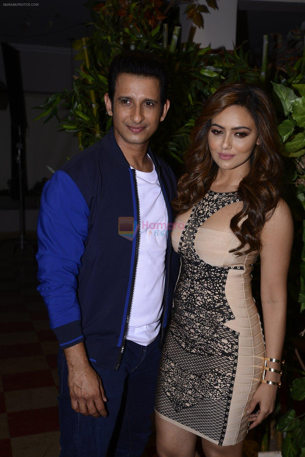 Sharman Joshi, Sana Khan at May I come in Madam on location in Mumbai on 28th Nov 2016