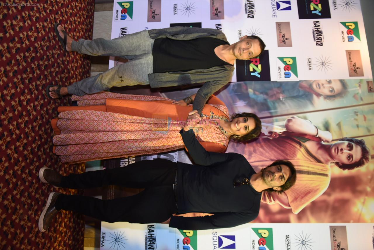 Vidya Balan, Arjun Rampal,Sujoy Ghosh at Kahaani 2 Press Conference in Delhi on 29th Nov 2016