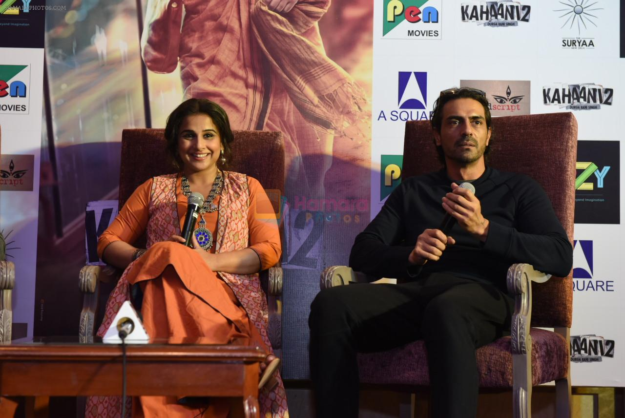 Vidya Balan, Arjun Rampal at Kahaani 2 Press Conference in Delhi on 29th Nov 2016
