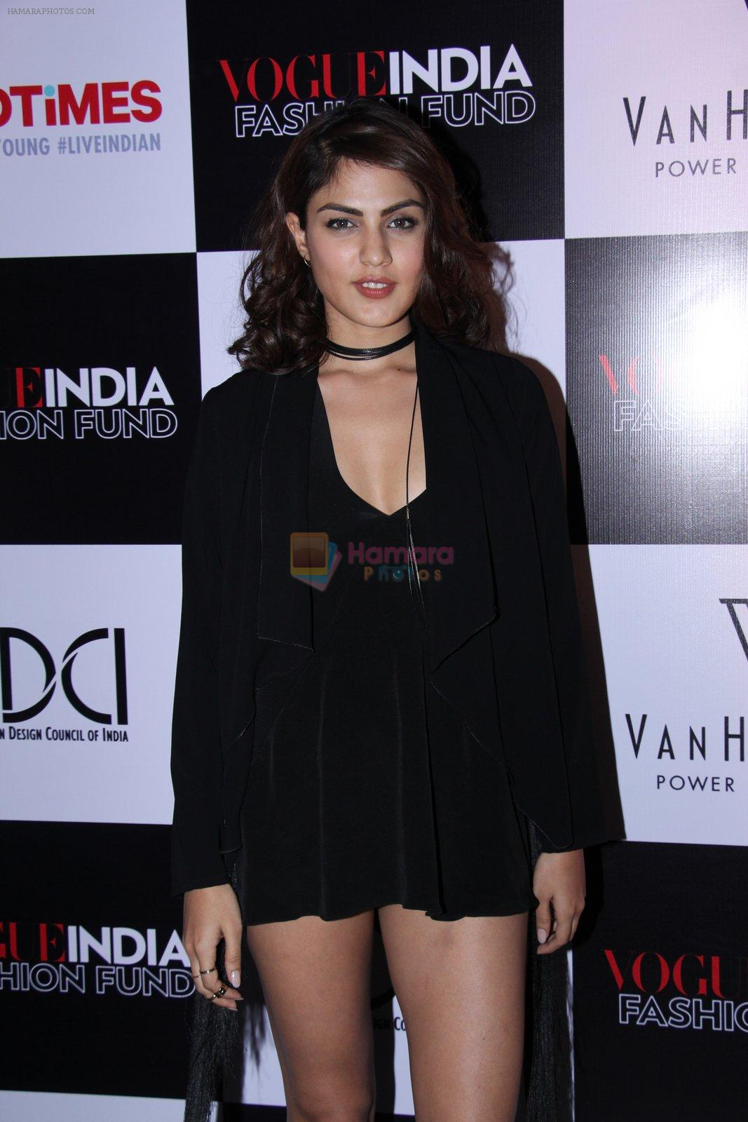 Rhea Chakraborty at Vogue India Fashion Fund Event on 29th Nov 2016