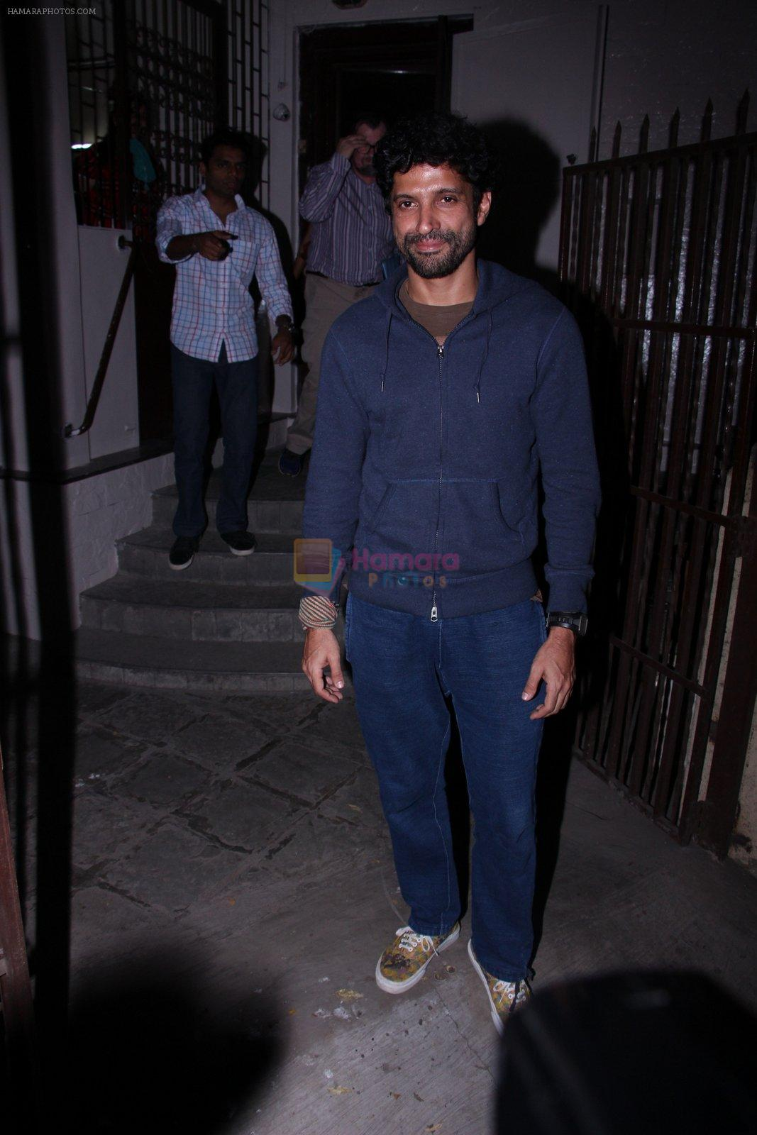 Farhan Akhtar at Recording Studio on 30th Nov 2016
