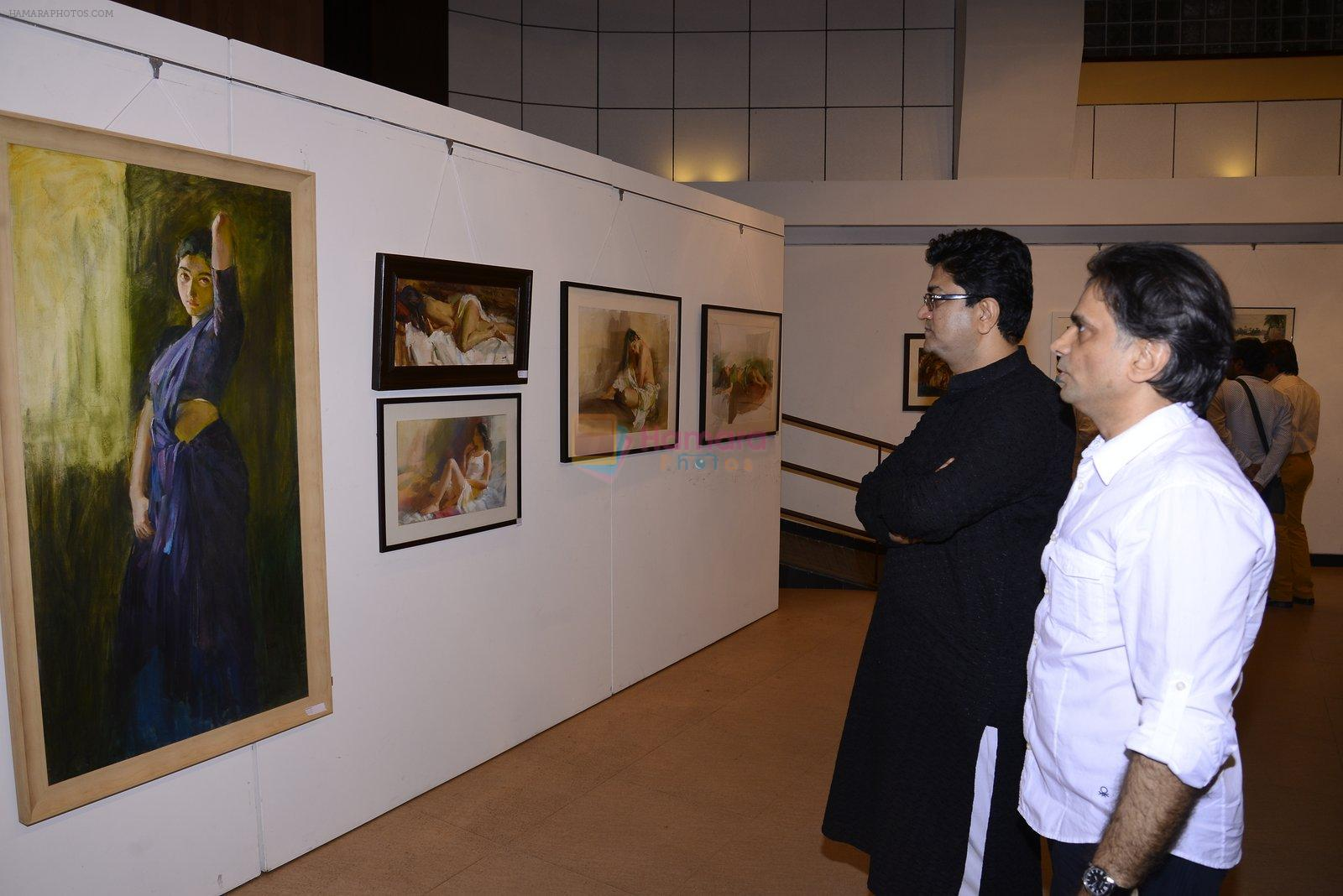 Prasoon Joshi inaugurate the late John Fernandes Masterstrokes art show on 6th Dec 2016