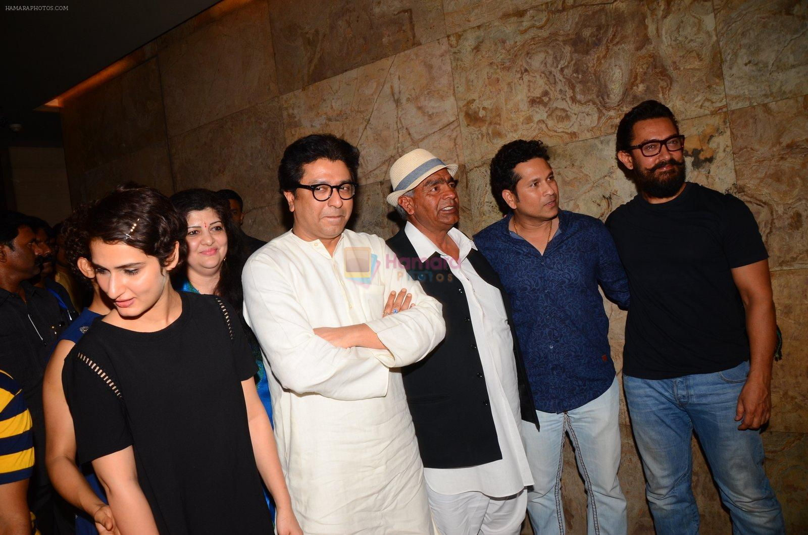 Aamir Khan, Sachin Tendulkar at Dangal Screening on 20th Dec 2016