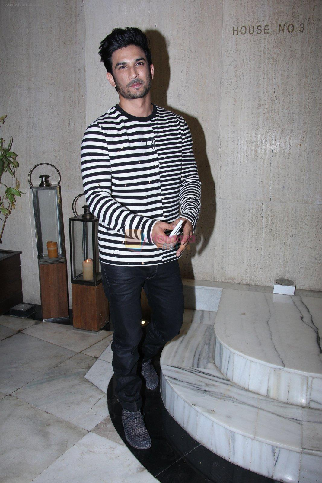 Sushant Singh Rajput at Manish Malhotra's bash for Priyanka Chopra on 27th Dec 2016