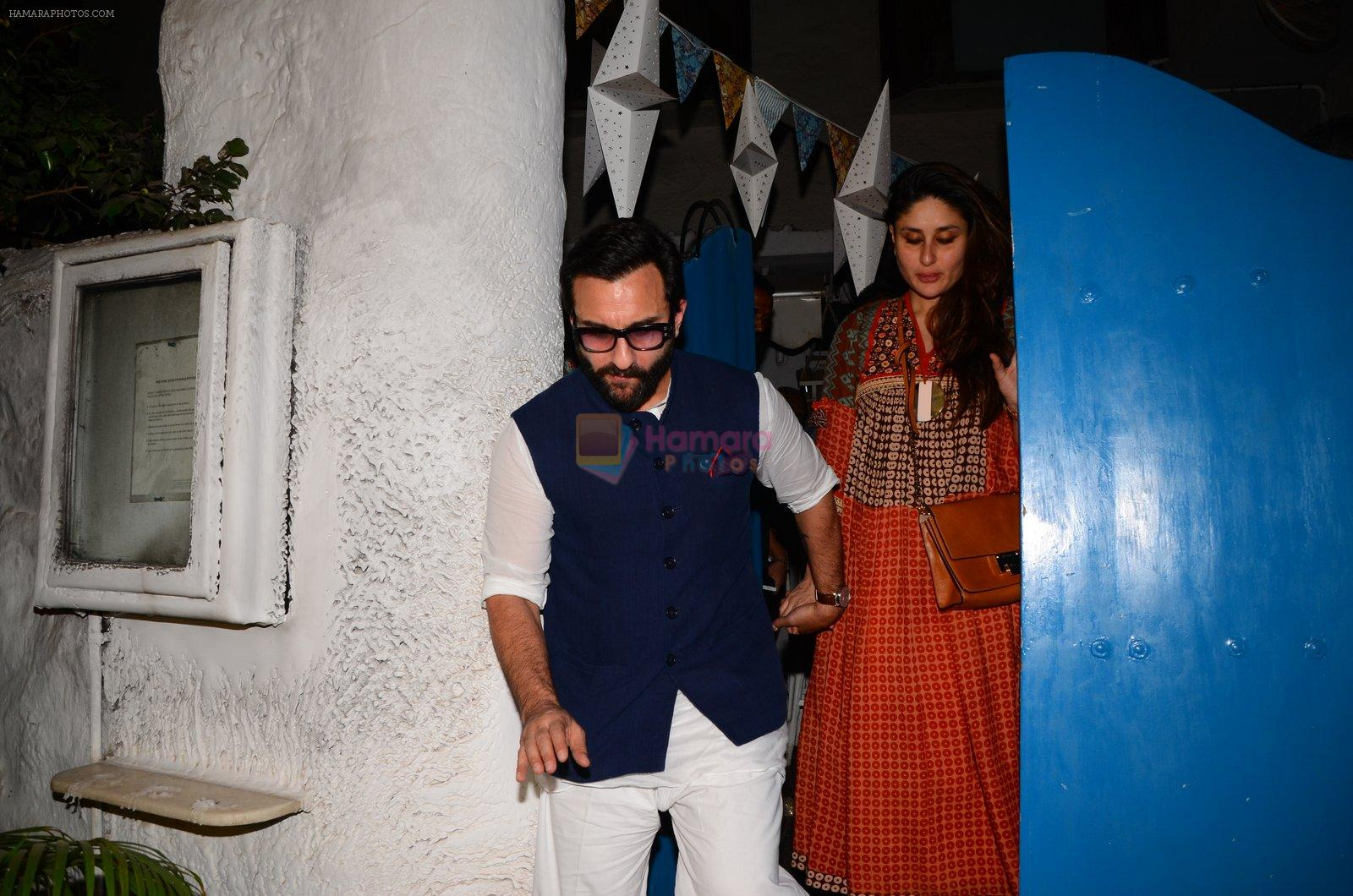 Saif Ali Khan, Kareena Kapoor snapped on 28th Dec 2016