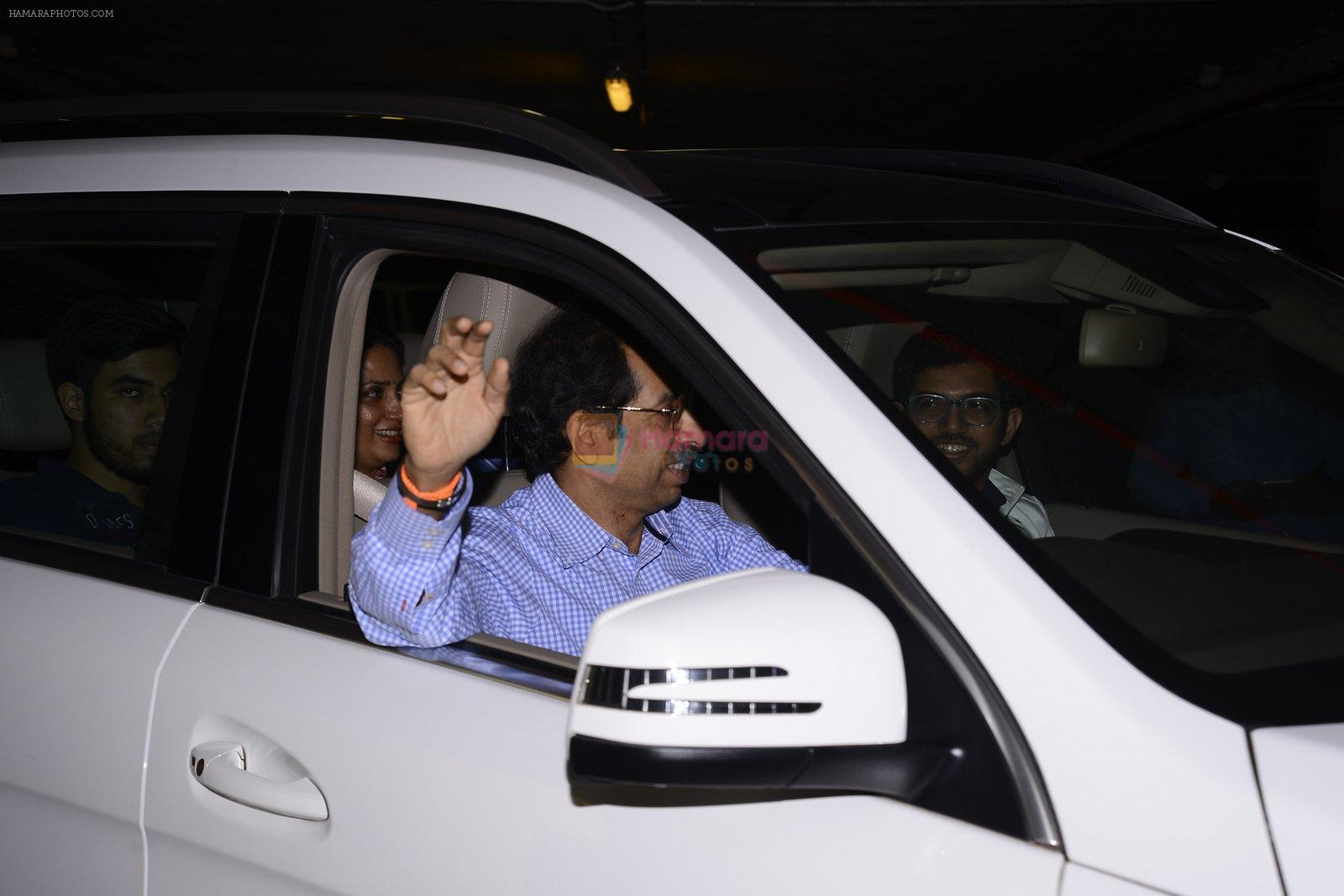 Uddhav Thackeray snapped at airport on 1st Jan 2016