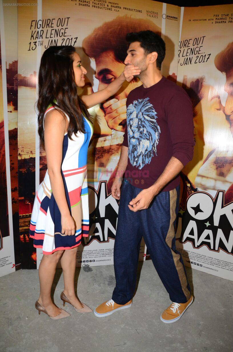Shraddha Kapoor, Aditya Roy Kapoor at OK Jaanu promotions on 7th Jan 2017