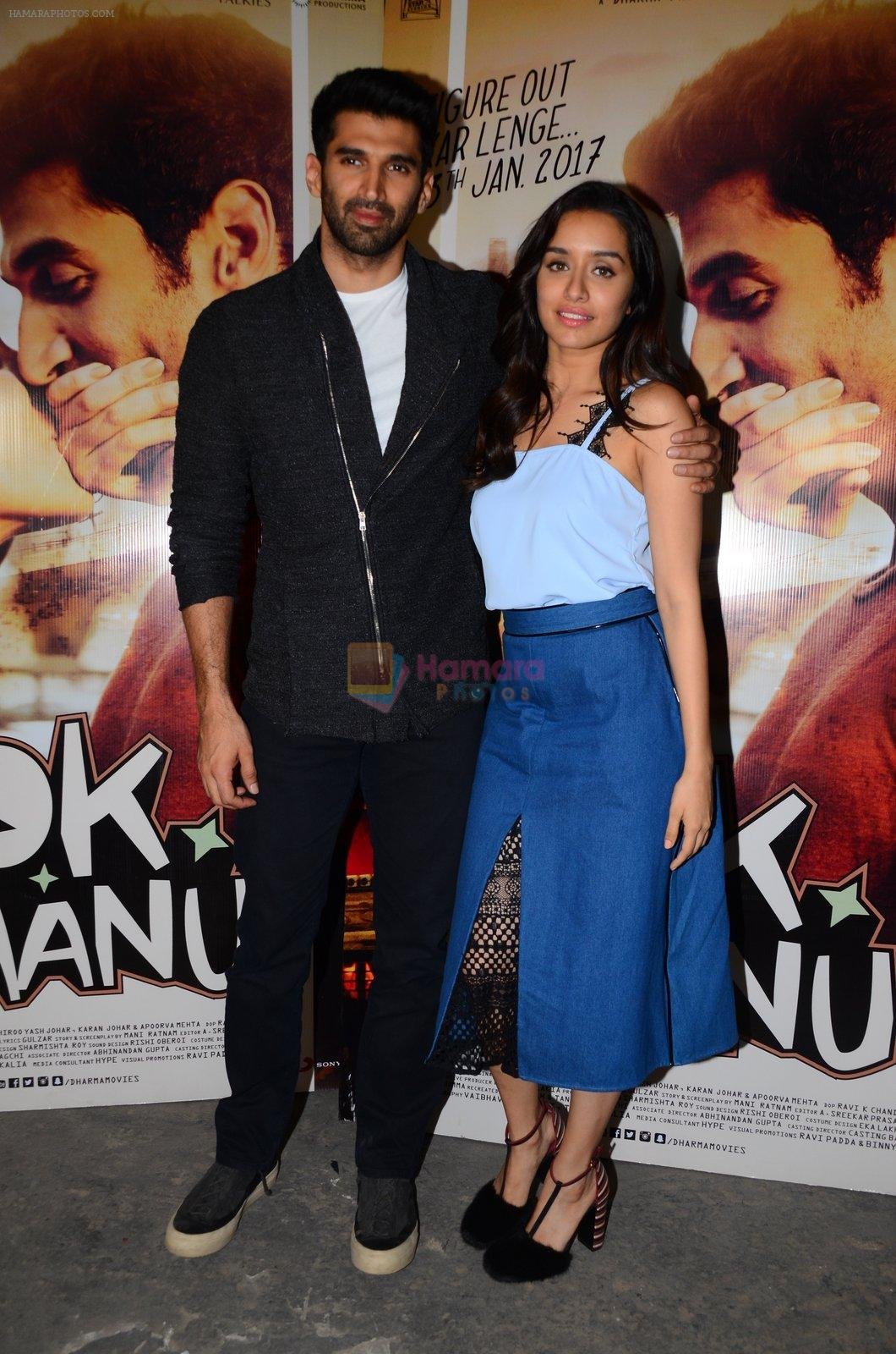 Shraddha Kapoor, Aditya Roy Kapoor at OK Jaanu interviews on 8th Jan 2017