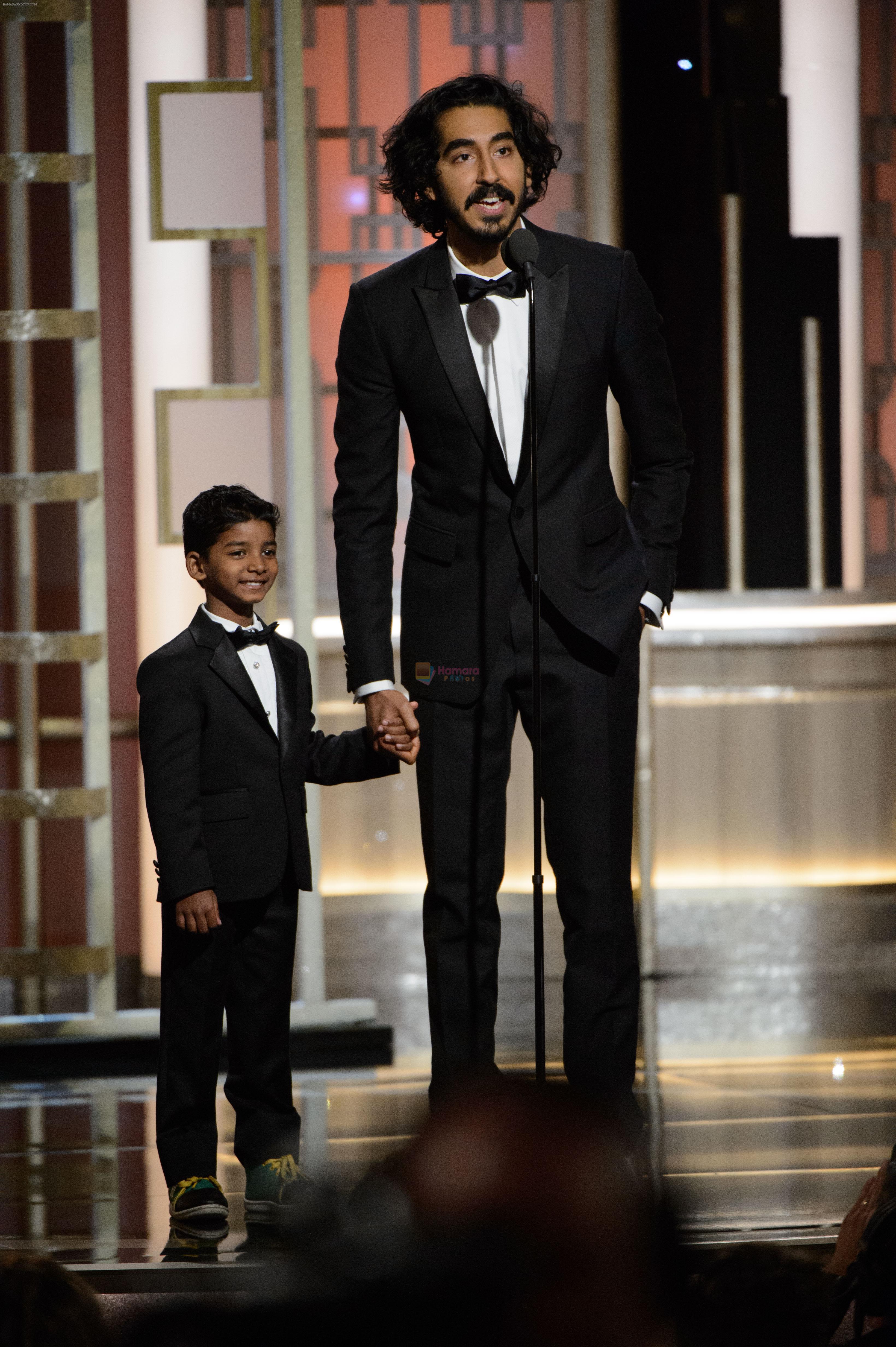 Dev Patel at 74th Golden Globe Awards