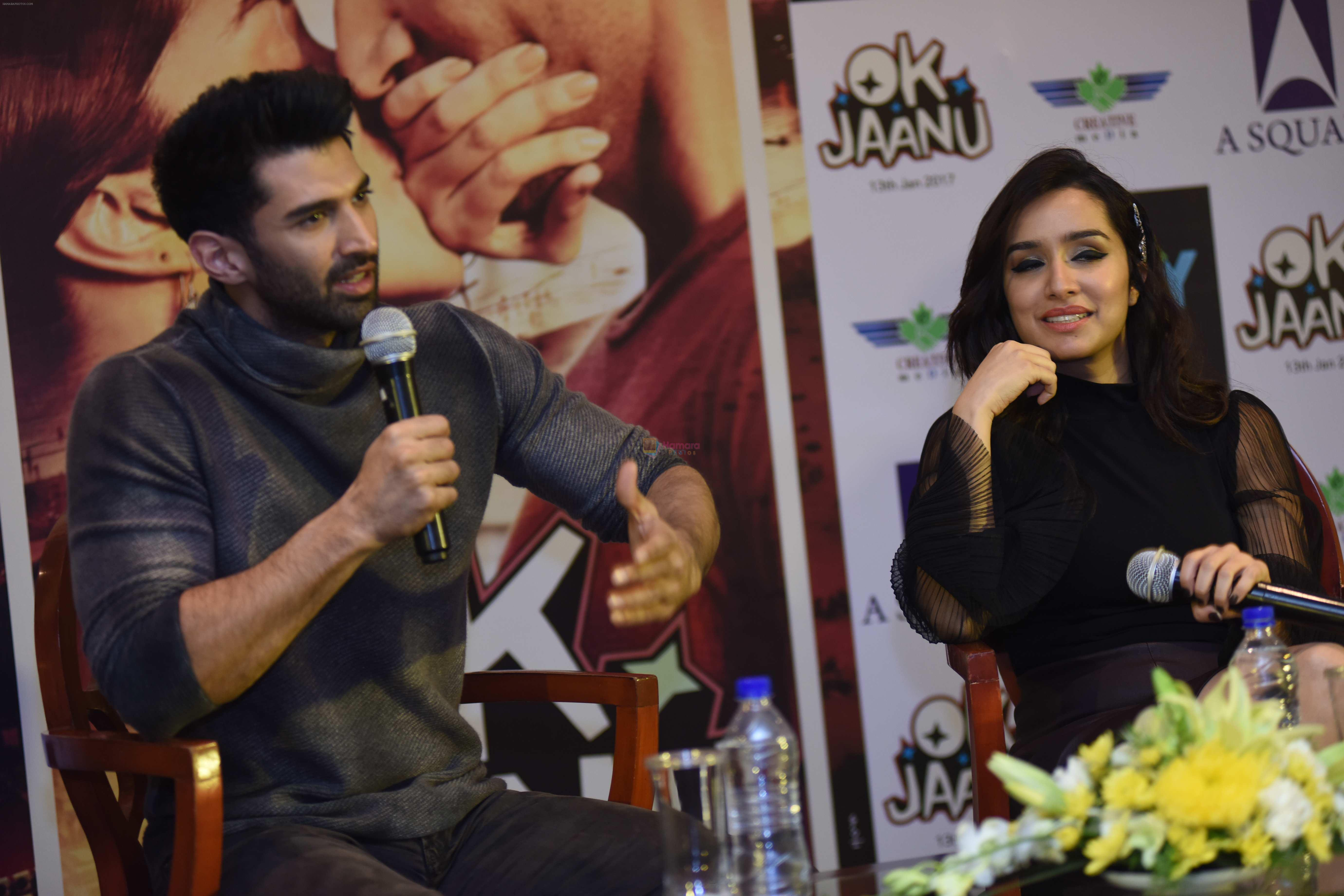 Shraddha Kapoor, Aditya Roy Kapoor promotes Ok Jaanu in Delhi on 11th Jan 2017