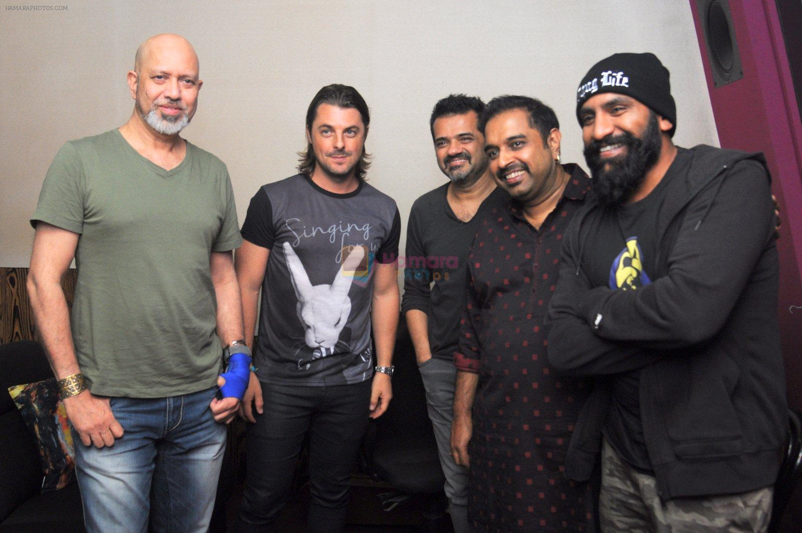 DJ Axwell jams with Shankar Ehsan Loy on 11th Jan 2017
