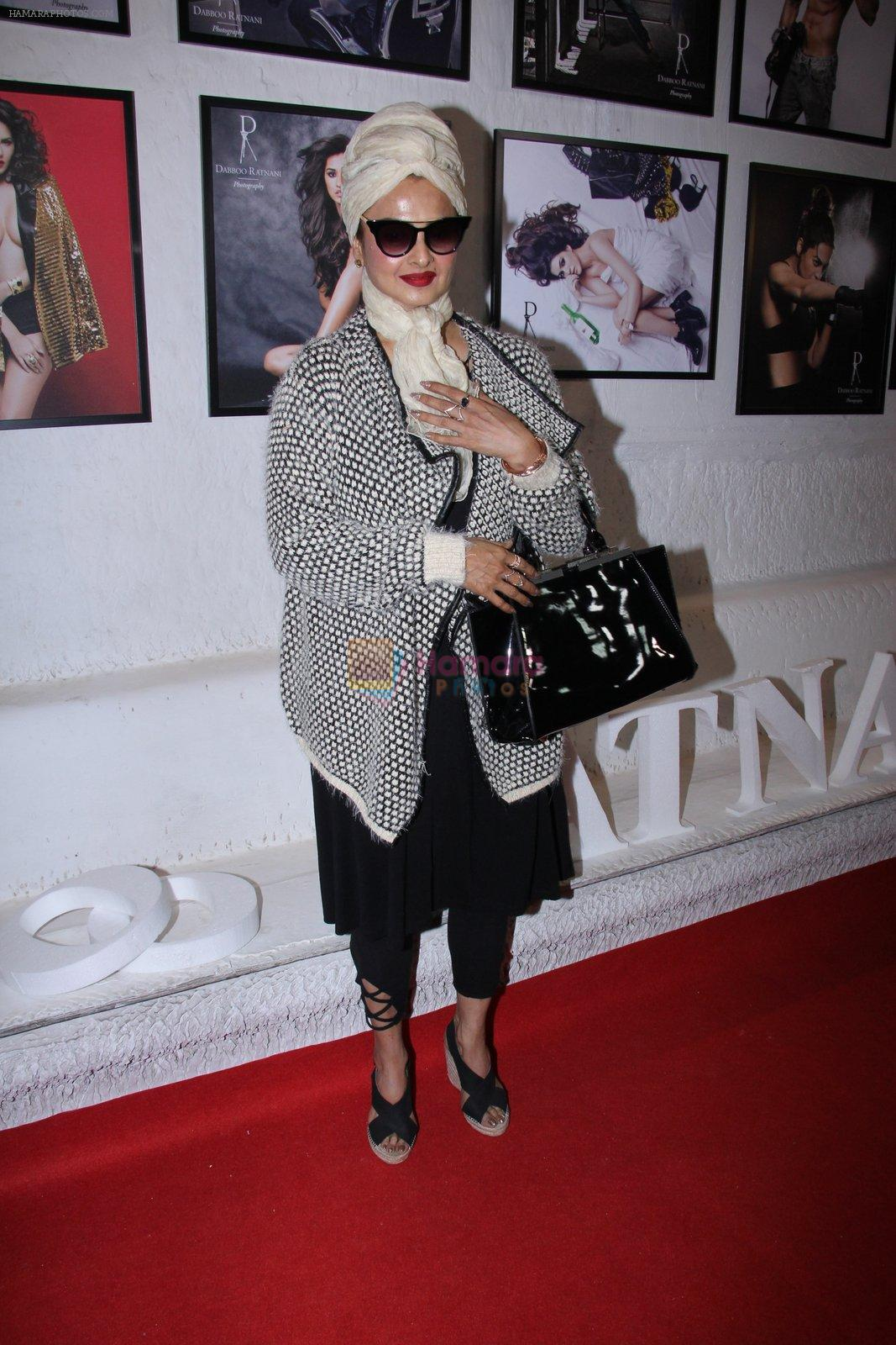 Rekha at Dabboo Ratnani calendar launch in Mumbai on 11th Jan 2017