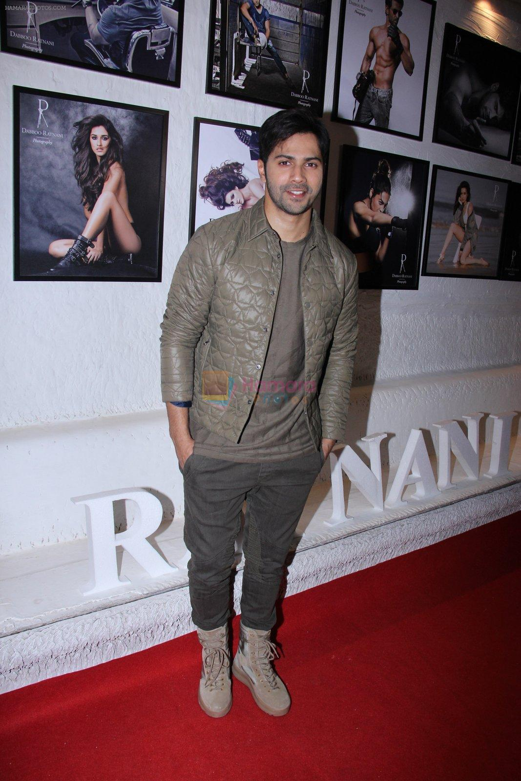 Varun Dhawan at Dabboo Ratnani calendar launch in Mumbai on 11th Jan 2017