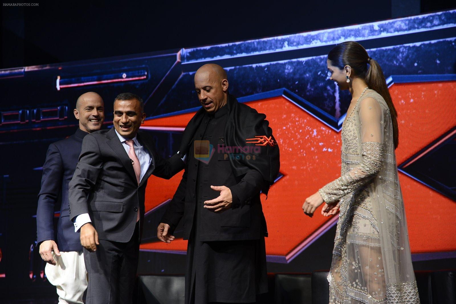 Deepika Padukone, Vin Diesel at XXX Press Meet on 12th Jan 2017