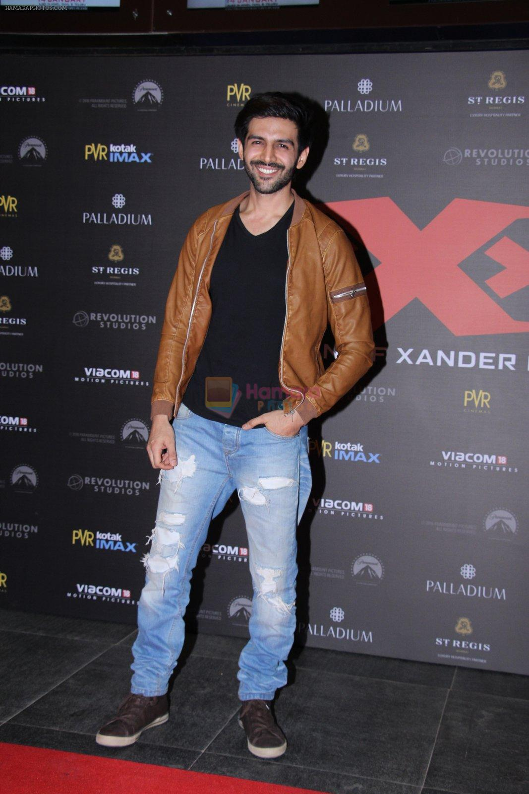 Karthik Aryan at XXX Premiere on 12th Jan 2017