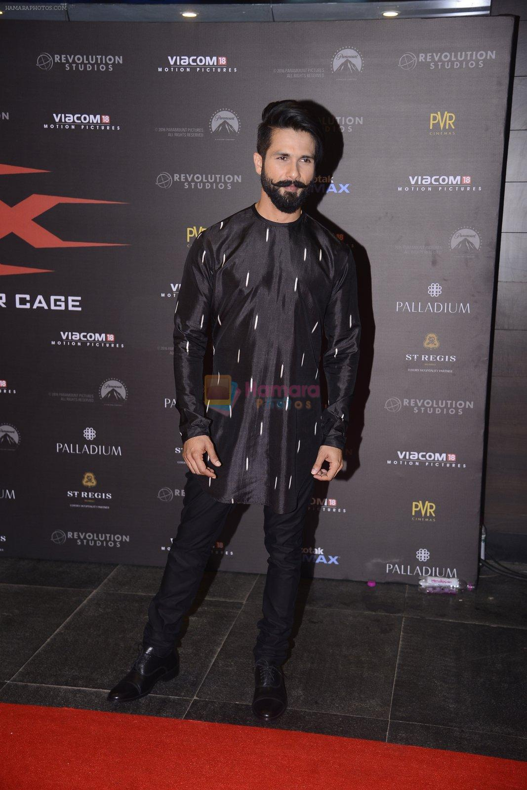 Shahid Kapoor at XXX Premiere on 12th Jan 2017