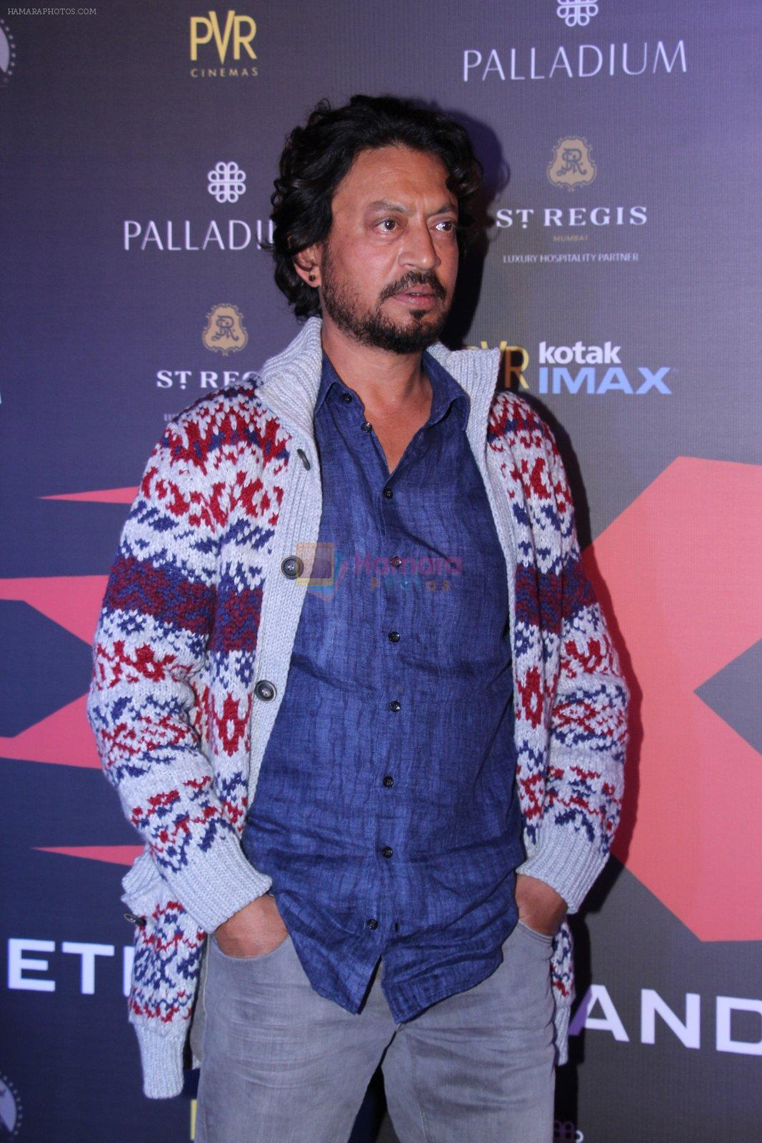 Irrfan Khan at XXX Premiere on 12th Jan 2017