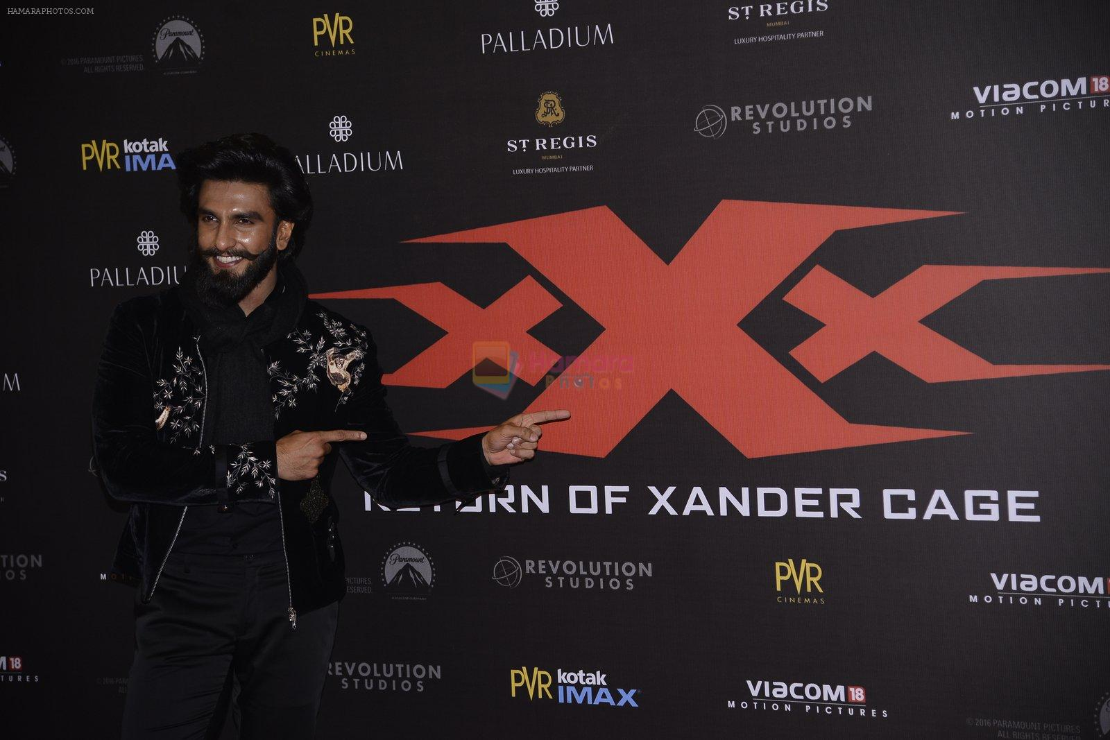 Ranveer Singh at XXX Premiere on 12th Jan 2017