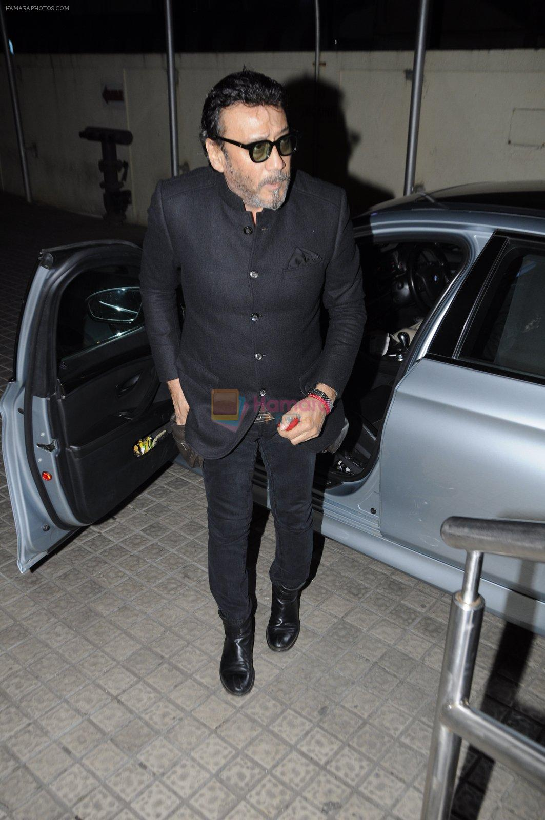 Jackie Shroff at OK Jaanu screening in Mumbai on 12th Jan 2017