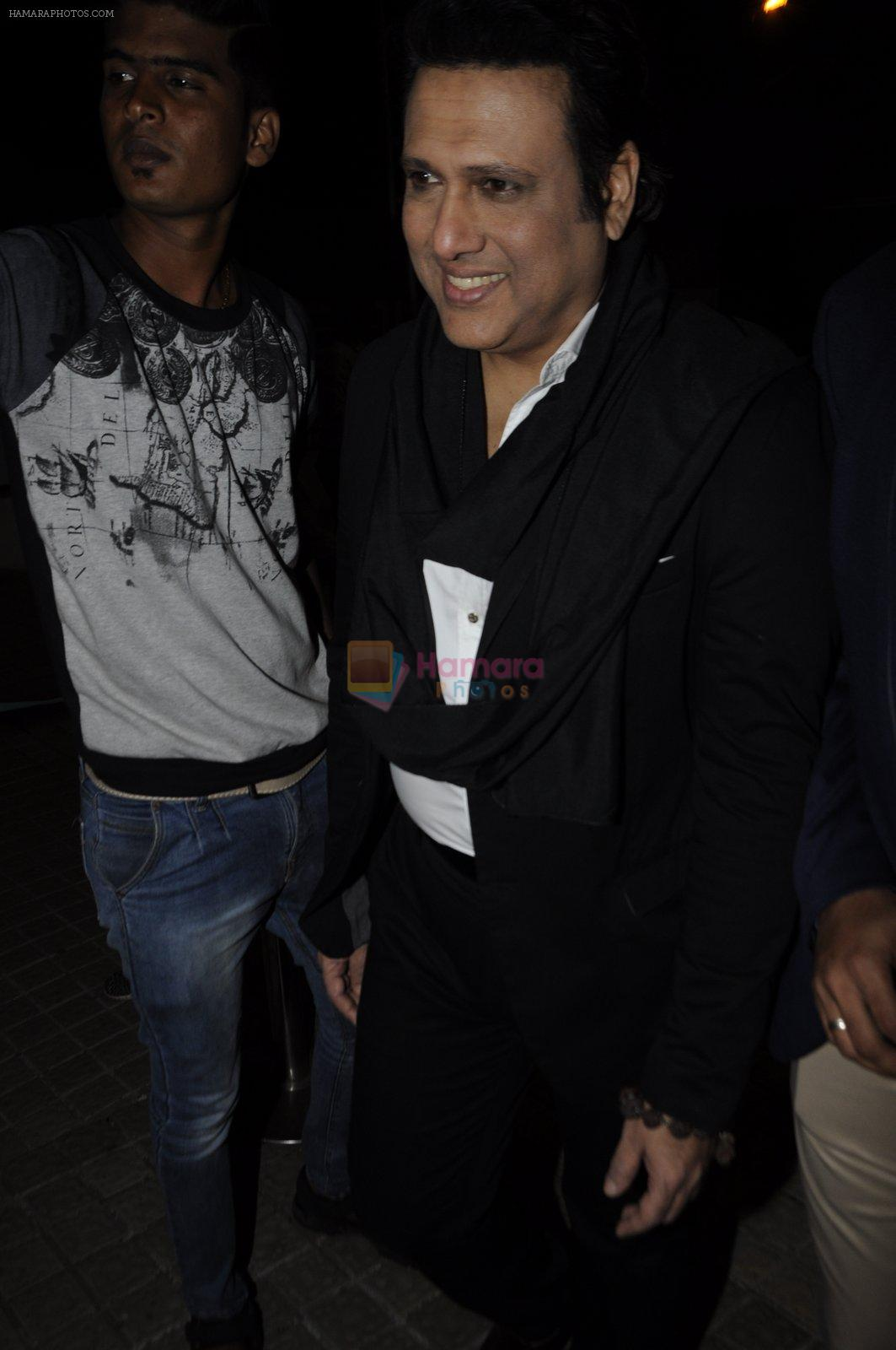 Govinda at OK Jaanu screening in Mumbai on 12th Jan 2017