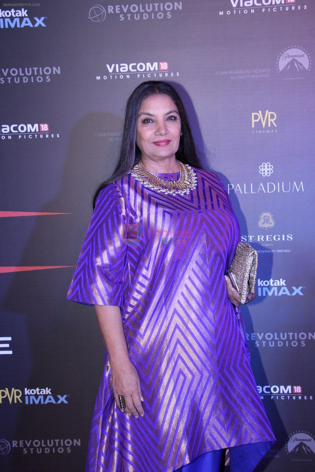 Shabana Azmi at XXX Premiere on 12th Jan 2017
