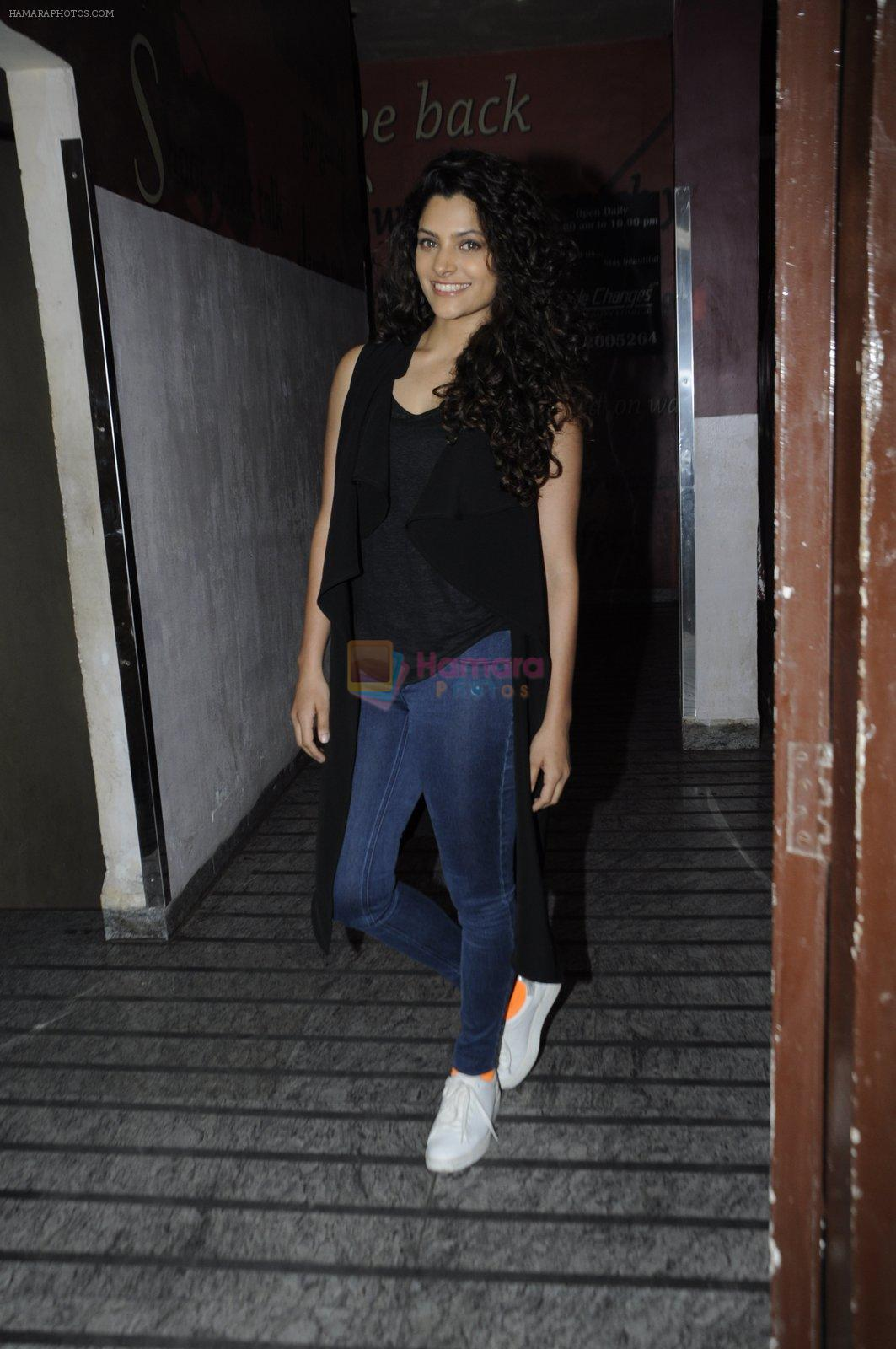 Saiyami Kher at OK Jaanu screening in Mumbai on 12th Jan 2017