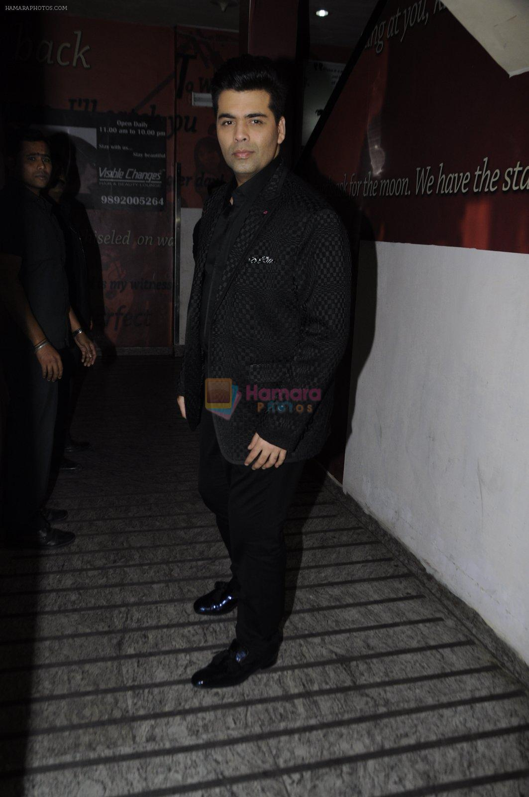 Karan Johar at OK Jaanu screening in Mumbai on 12th Jan 2017