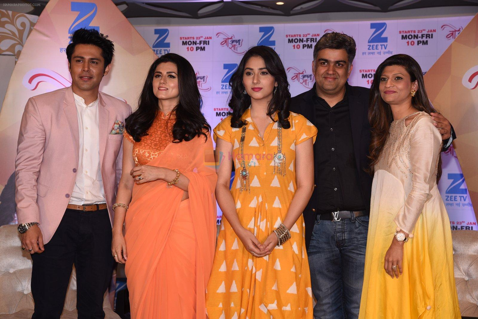 Sudeep Sahir and Disha Parmar, Riddhi Dogra at Woh Apna Sa show for ZEE on 17th Jan 2017