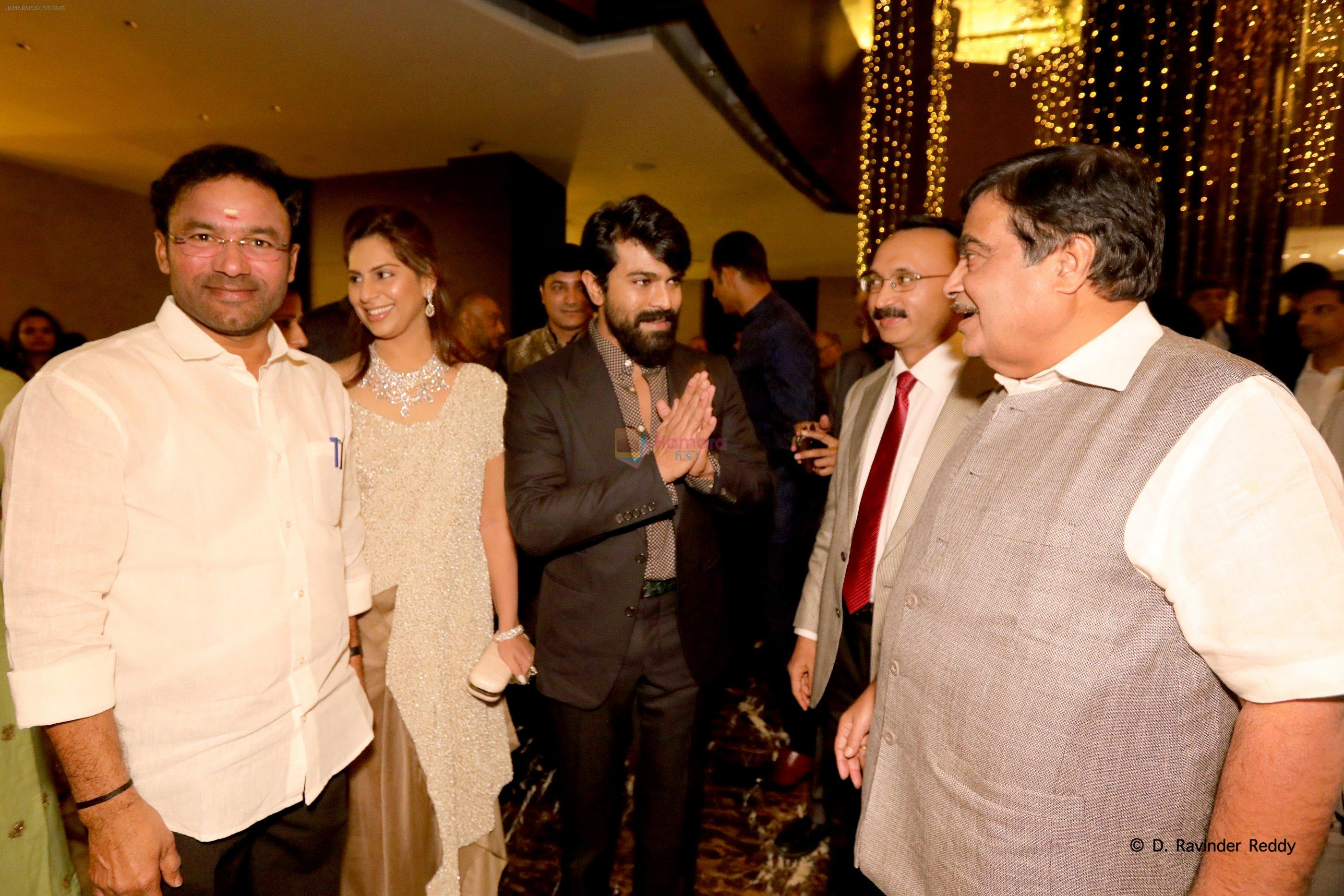 Ram Charan at Kesav and Veena sangeet on 30th Jan 2017