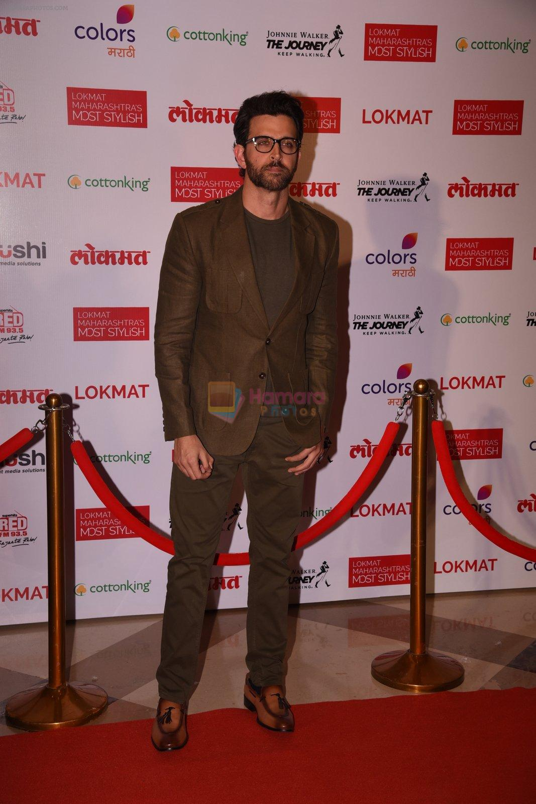 Hrithik Roshan at Lokmat Maharashtra's Most Stylish 2017 on 31st Jan 2017,1