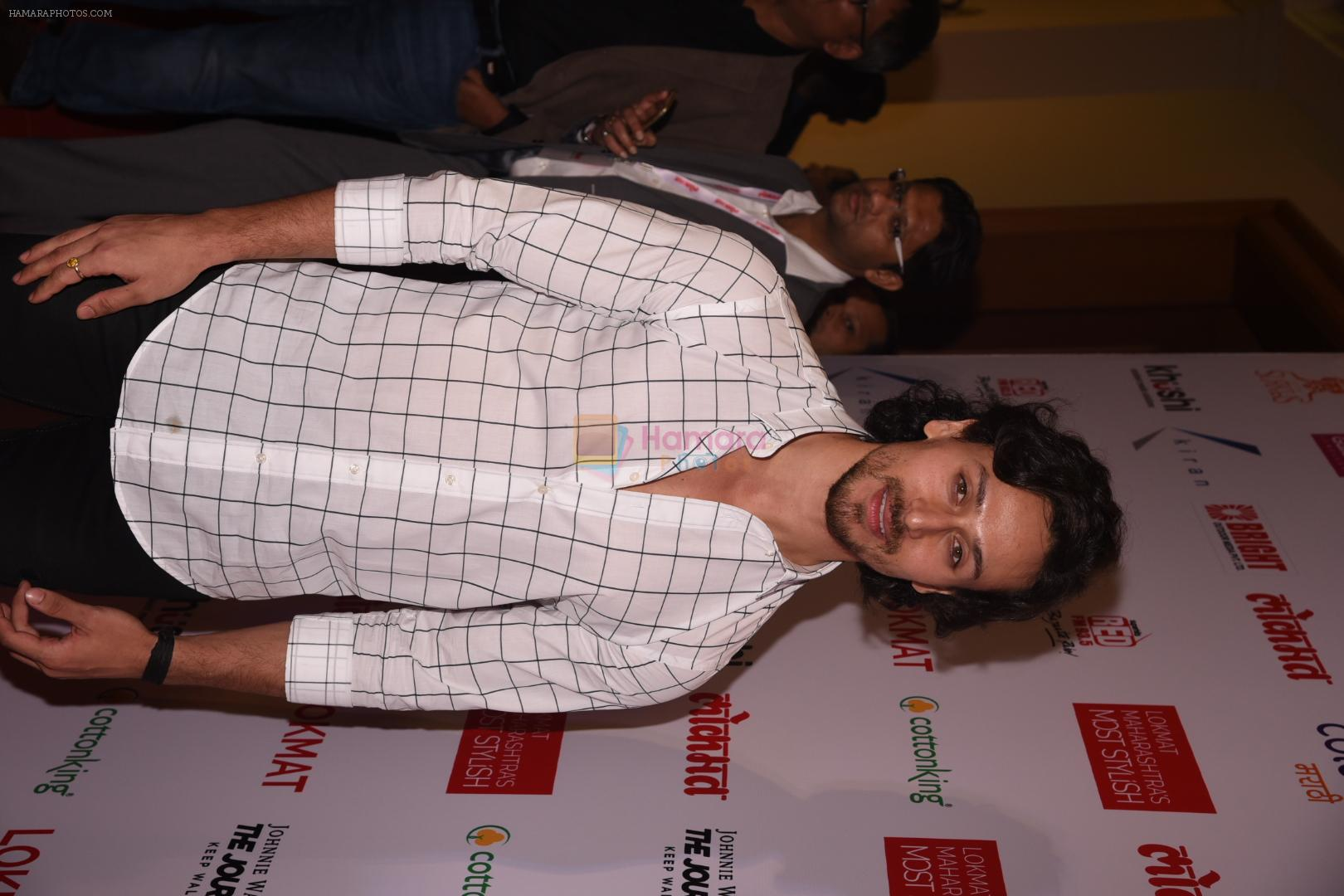 Tiger Shroff at Lokmat Maharashtra's Most Stylish 2017 on 31st Jan 2017