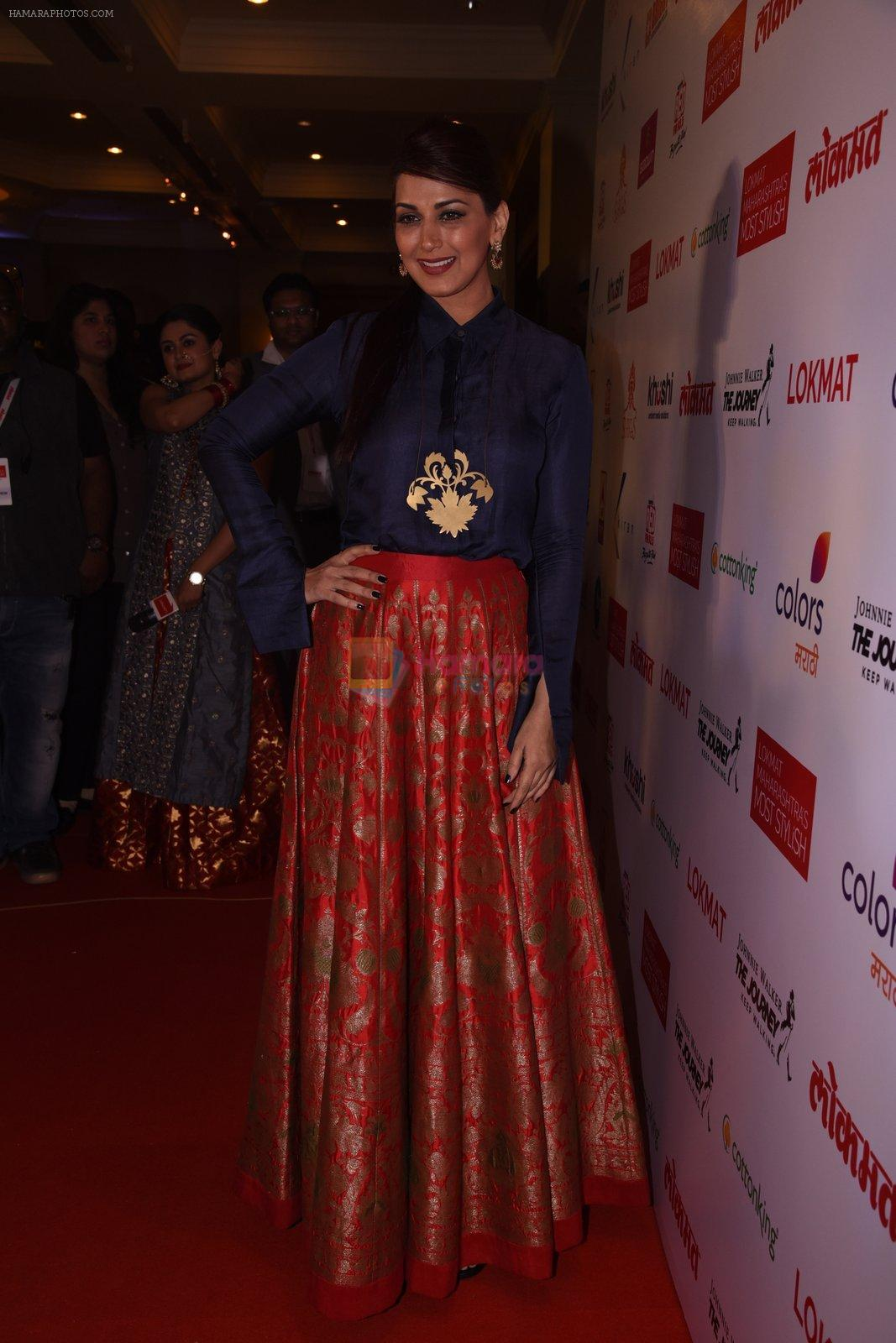 Sonali Bendre at Lokmat Maharashtra's Most Stylish 2017 on 31st Jan 2017,1