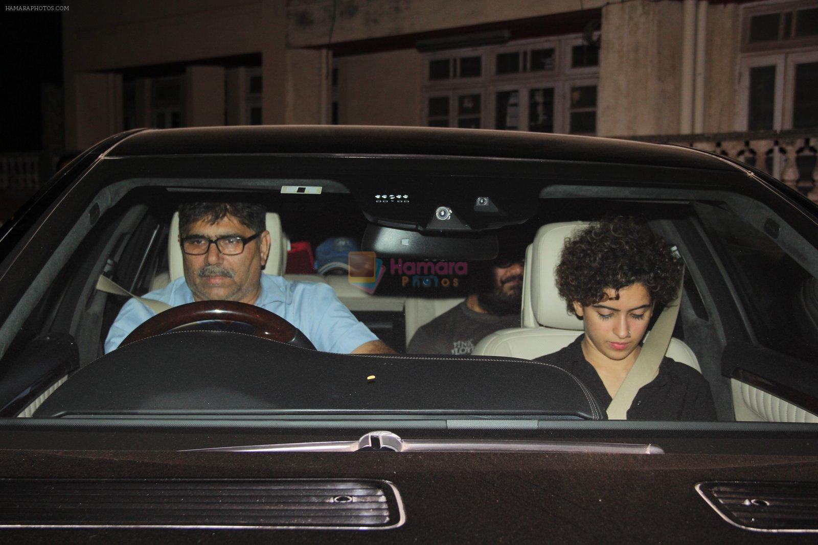 Sanya Malhotra, Aamir Khan snapped in Bandra on 31st Jan 2017