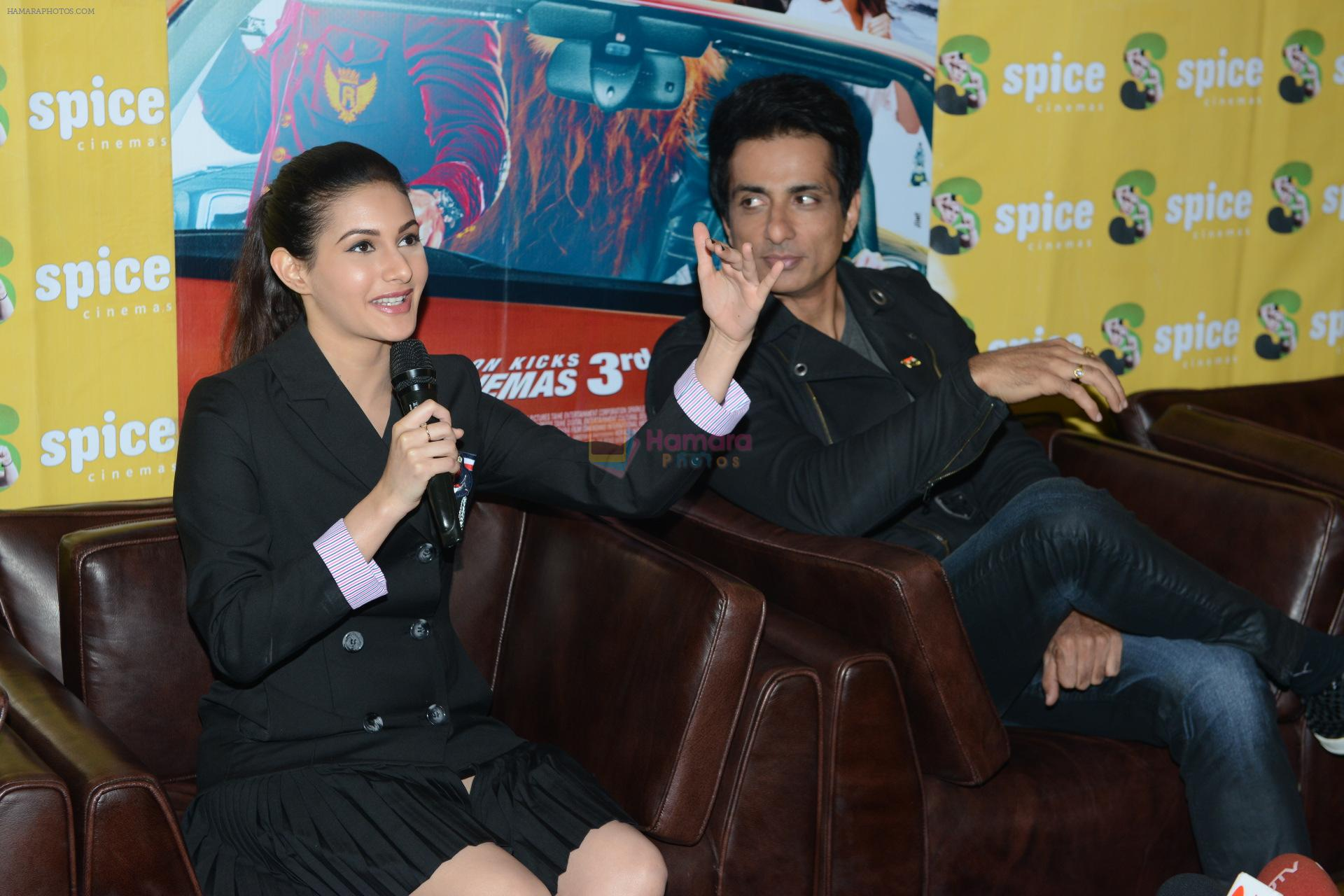 Sonu Sood, Amyra Dastur promote Kung Fu Yoga in Noida on 31st Jan 2017