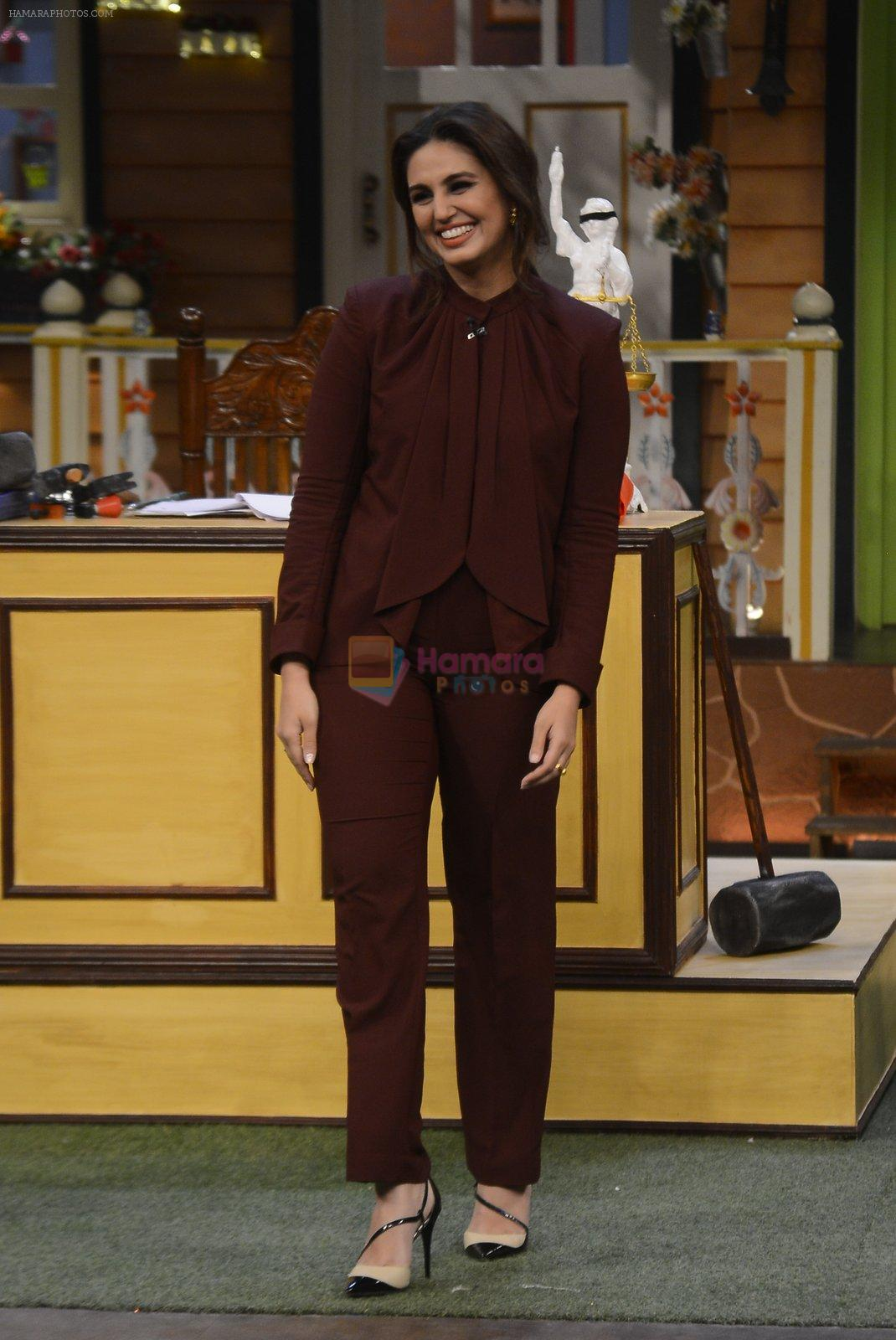 Huma Qureshi promote Jolly LLB 2 on the sets of The Kapil Sharma Show on 31st Jan 2017