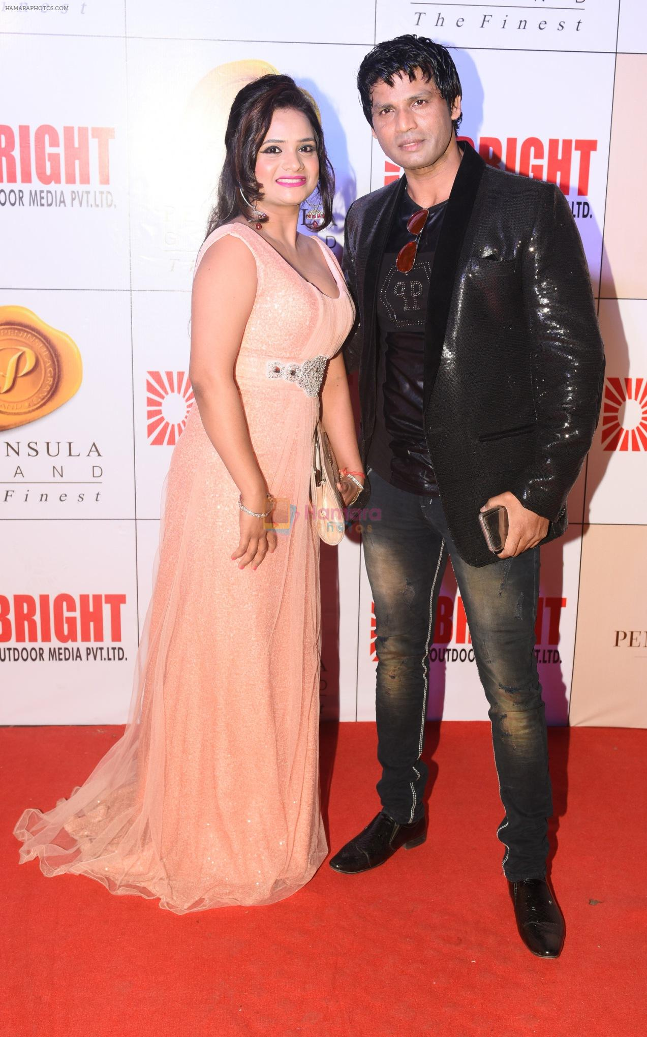 Manju & Mukesh Bharti at 3rd Bright Awards 2017 in Mumbai on 6th Feb 2017