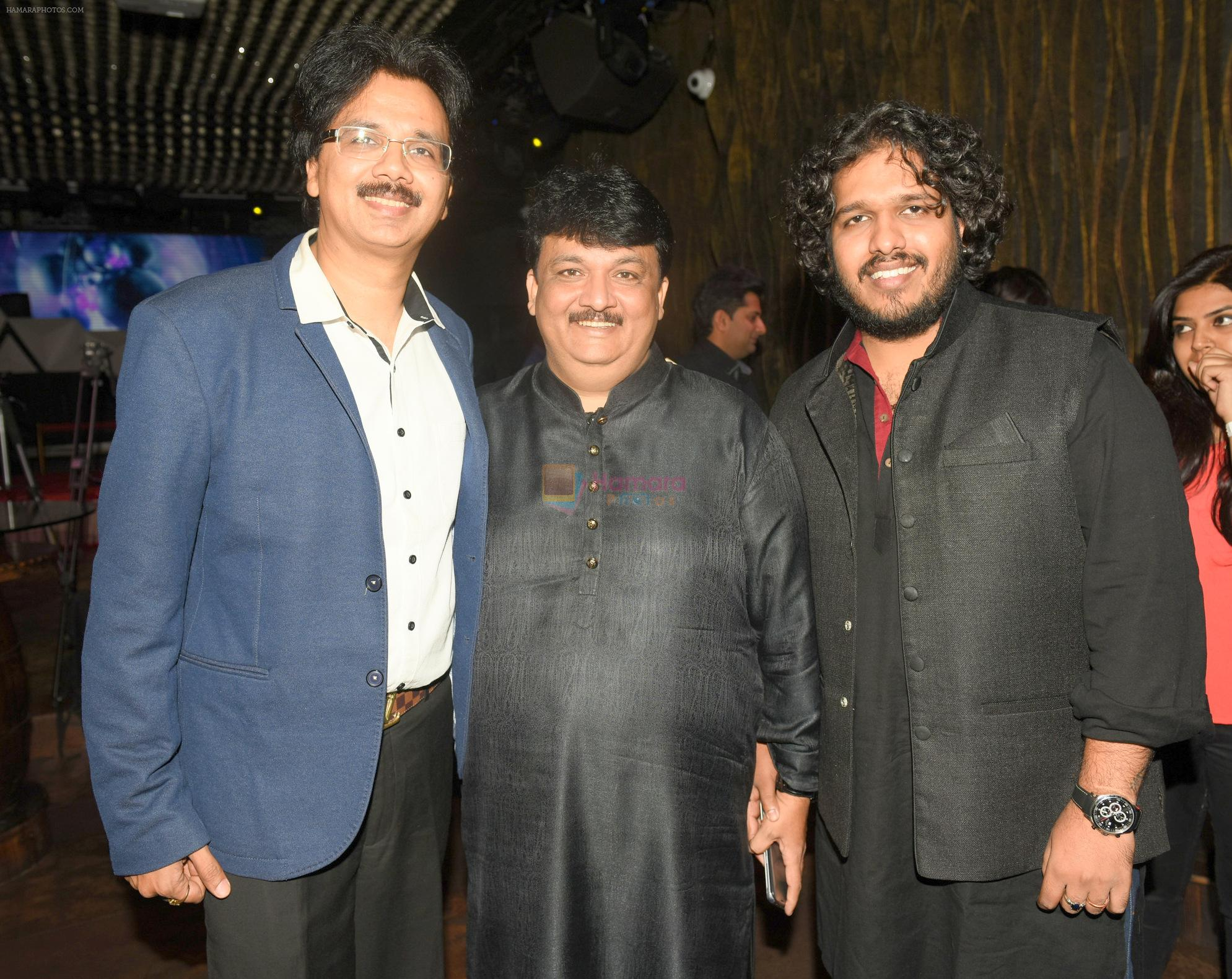 Jeetu  Shankar with Friends at the Launch of Youngest Music Composer in Golden Book of World Records 2016 Pranjali Sinha's new album MERE SAPNE