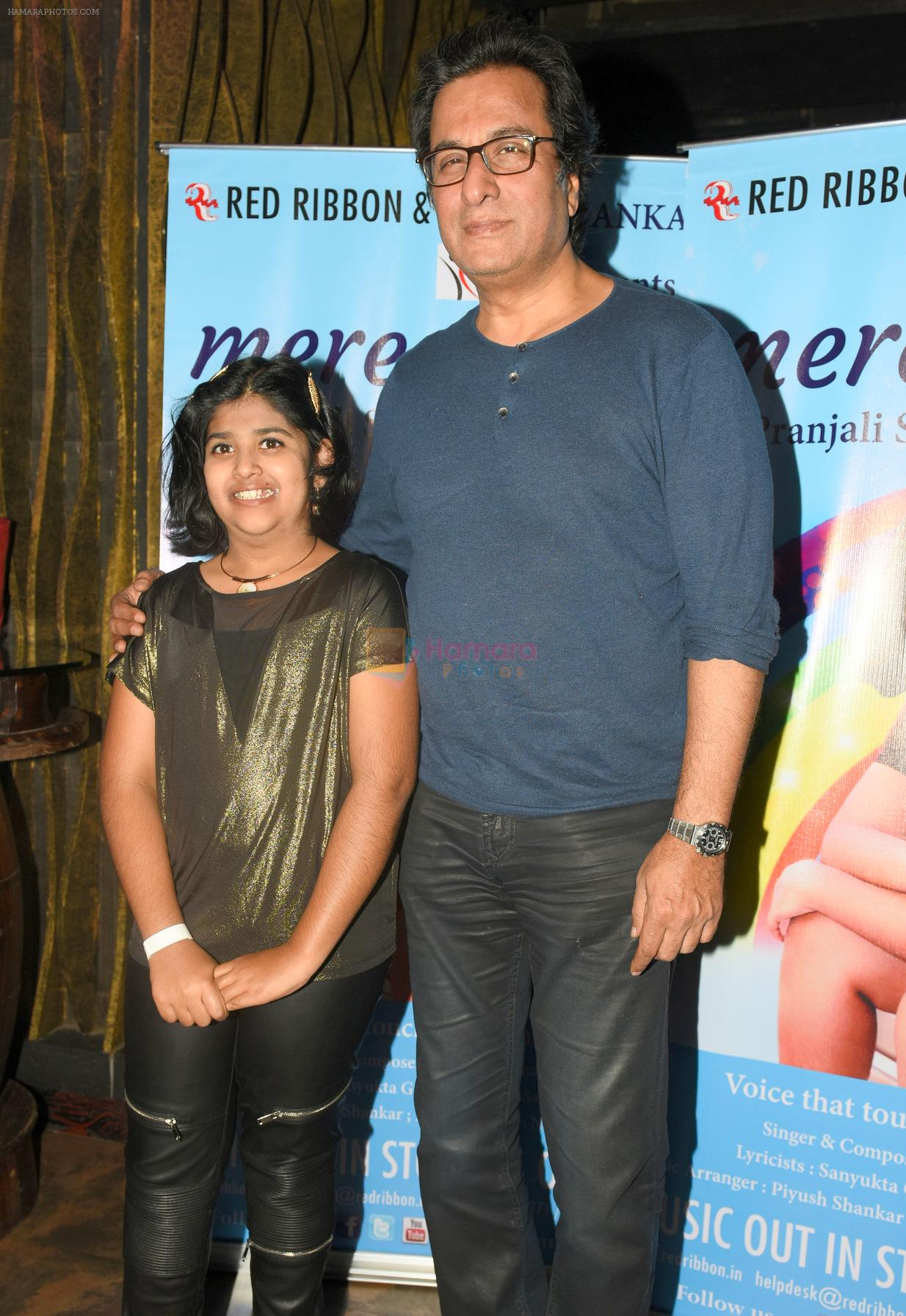 Pranjali Sinha with Talat Aziz at the Launch of Youngest Music Composer in Golden Book of World Records 2016 Pranjali Sinha's new album MERE SAPNE